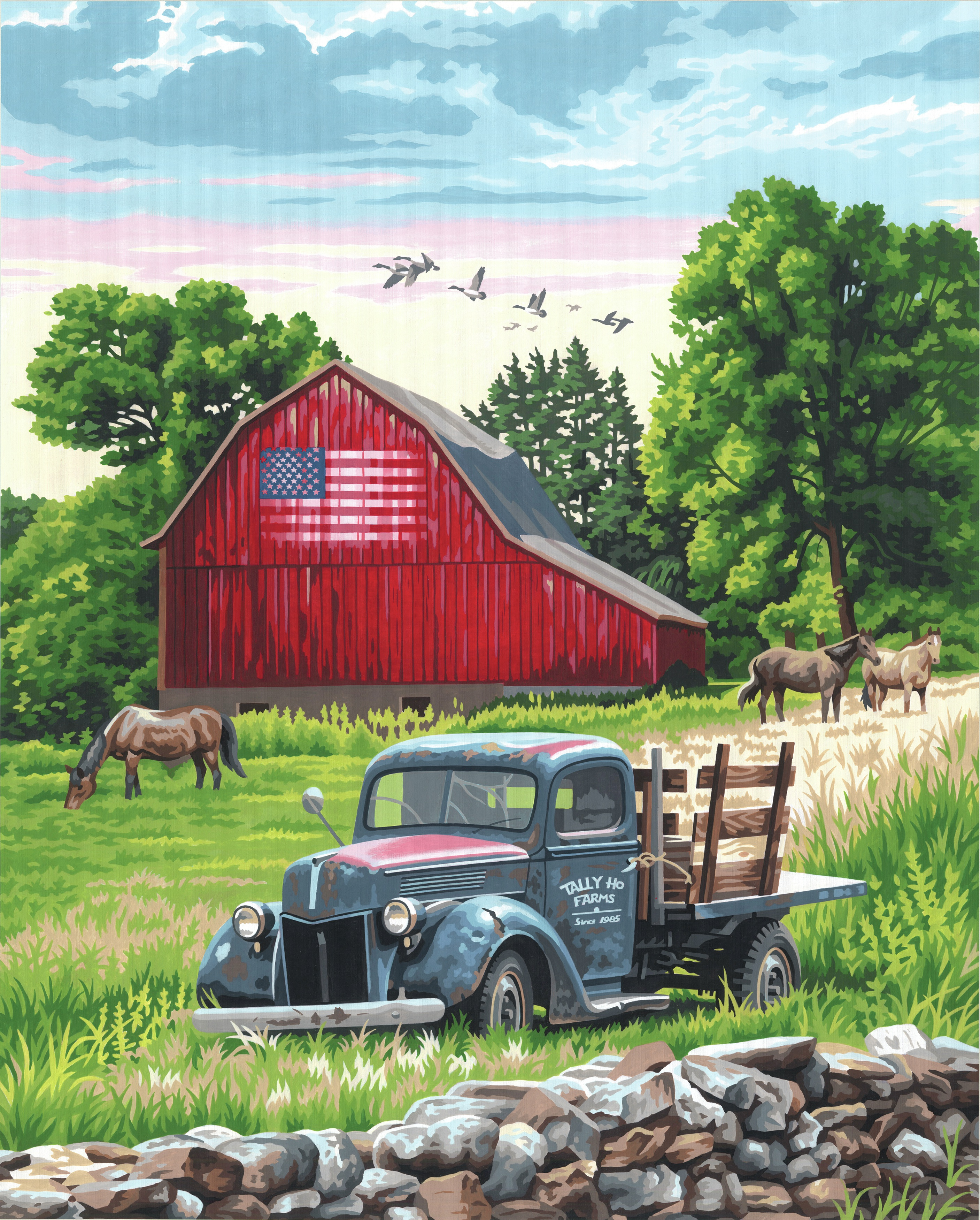 Paint Works Paint By Number Kit 16X20-Summer Farm