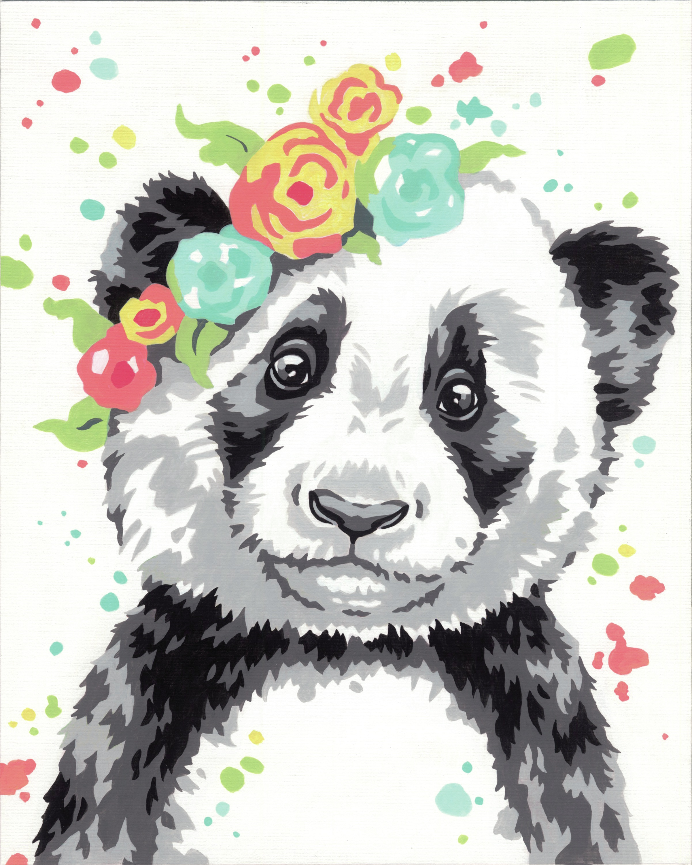 Paint Works Paint By Number Kit 8X10-Panda