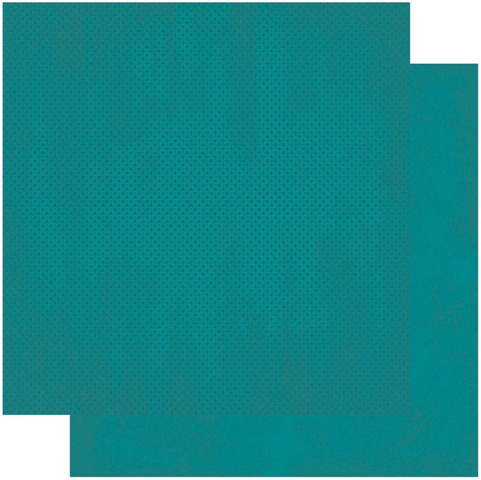 BoBunny Double Dot Double-Sided Textured Cardstock 12X12-Deep Sea