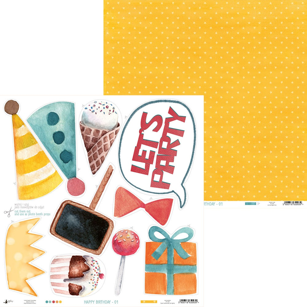 COLLECTION: Happy Birthday Double-Sided Cardstock 12X12