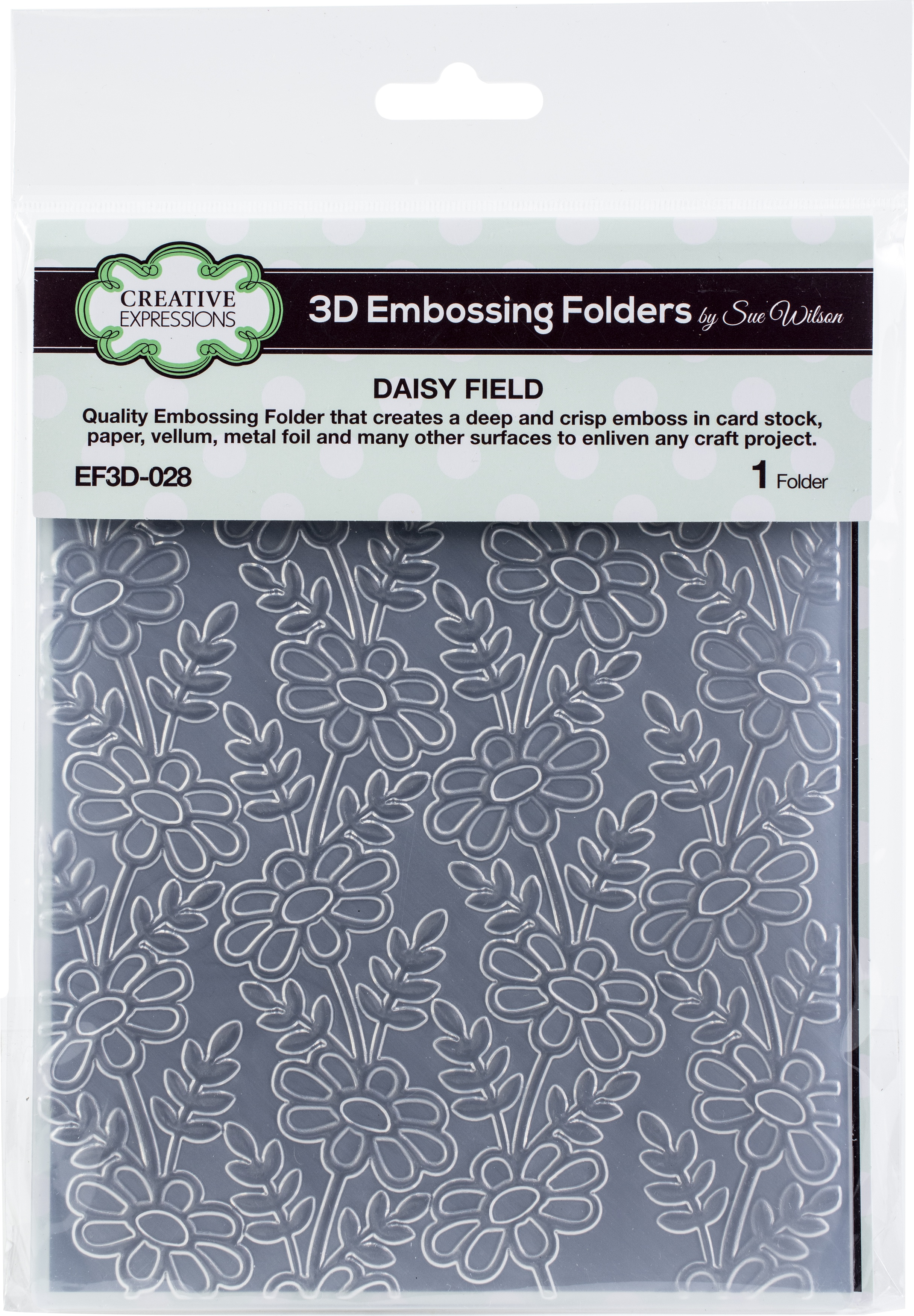 Creative Expressions 3D Embossing Folder 5.75X7.5-Daisy Field