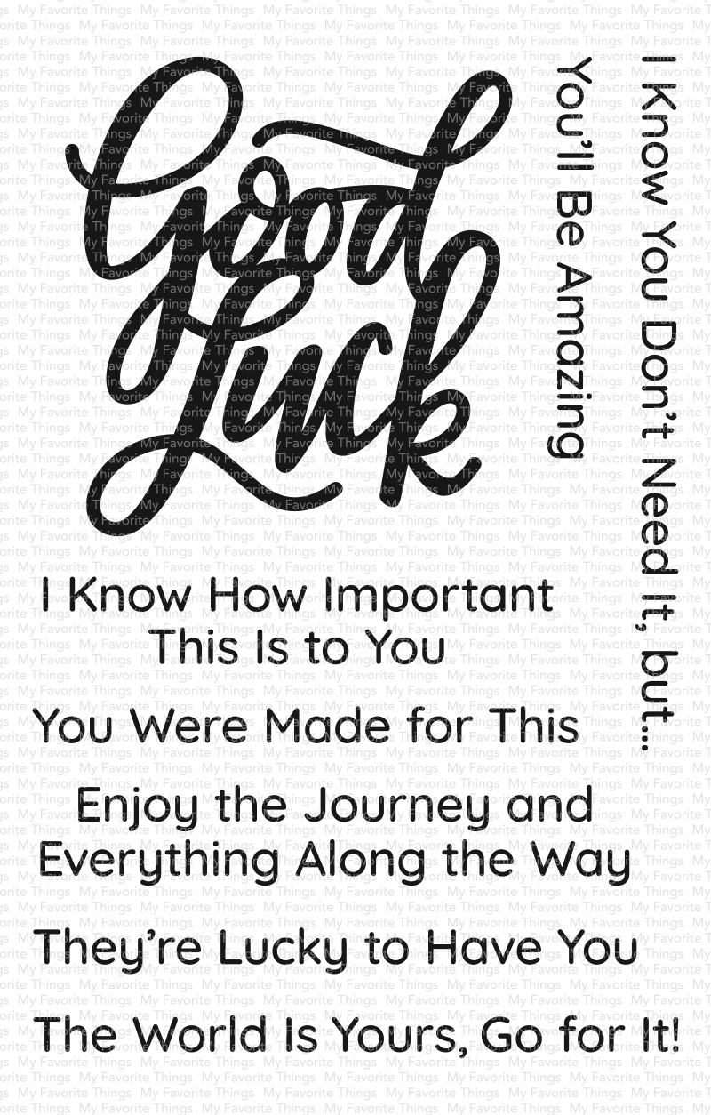 Good Luck Greetings Stamp