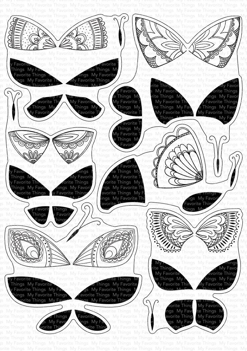 Brilliant Butterflies Stamp