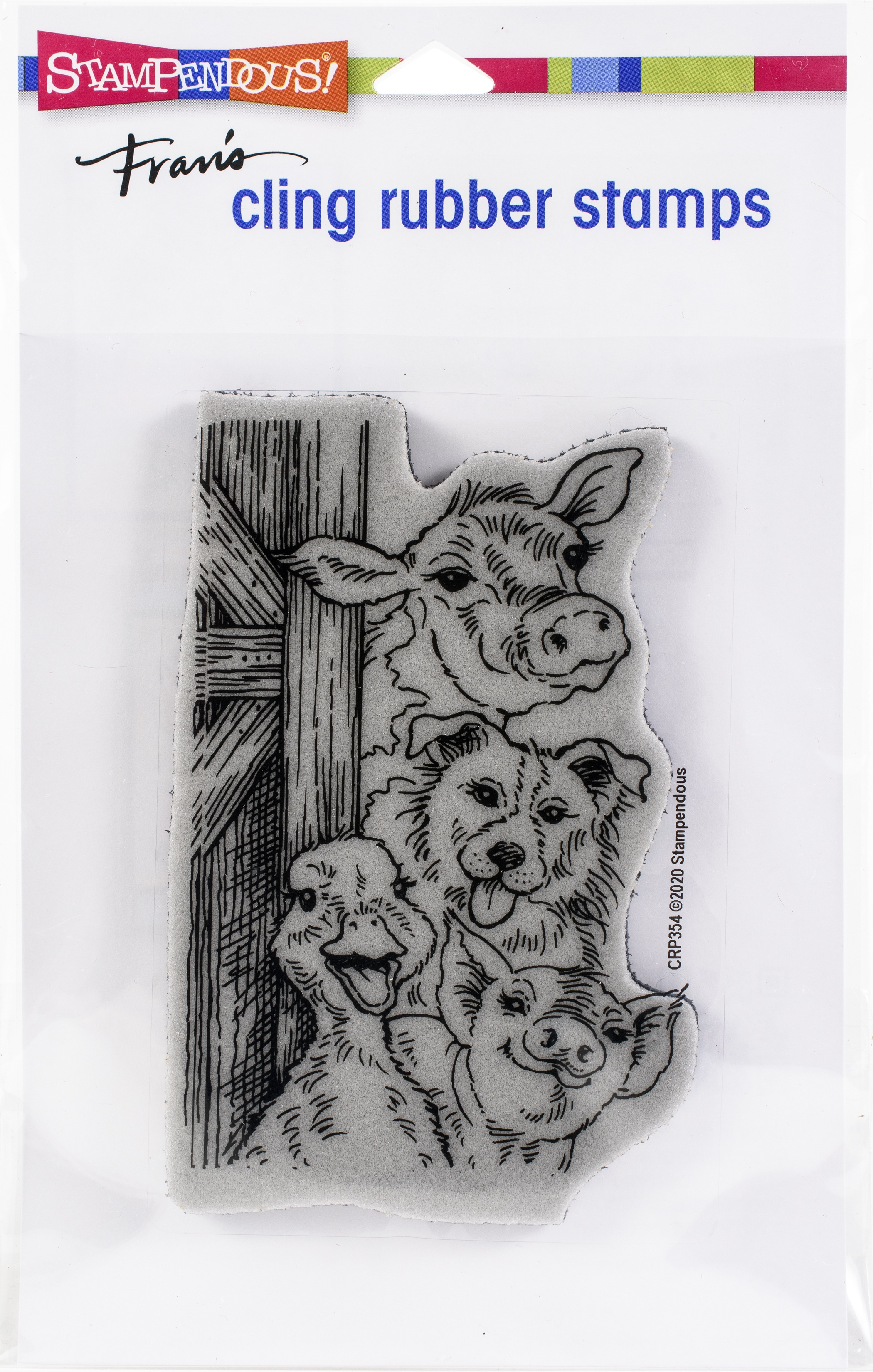 Stampendous Cling Stamp-Funny Farm