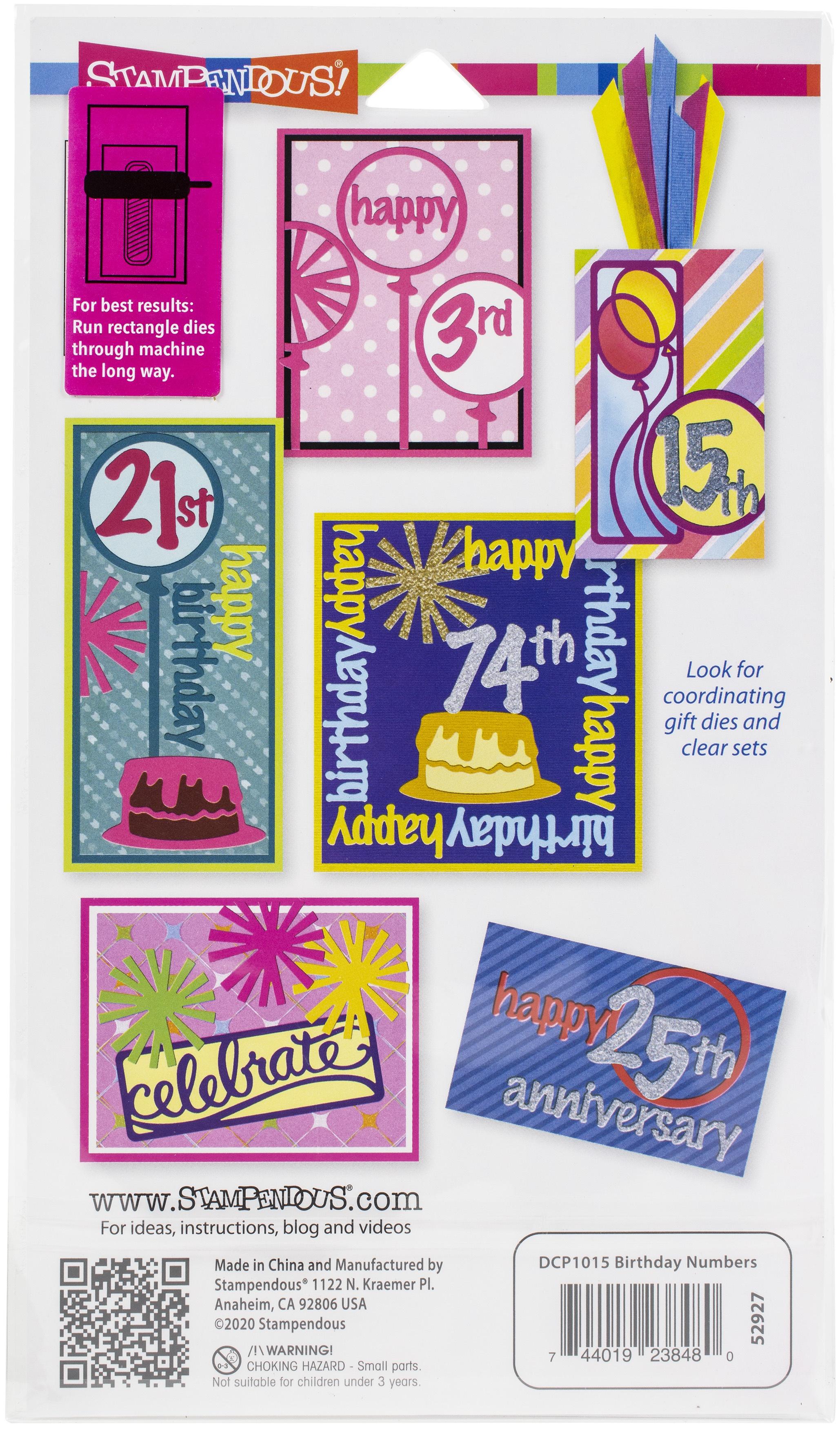 Stampendous Dies-Birthday Numbers