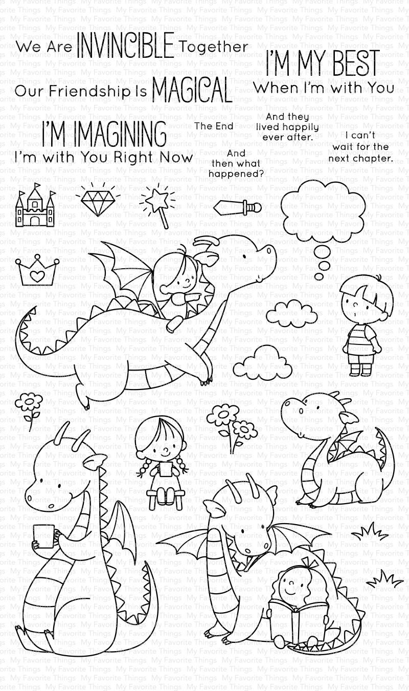 My Favorite Things Birdie Brown Stamps 5X8-Magical Friends