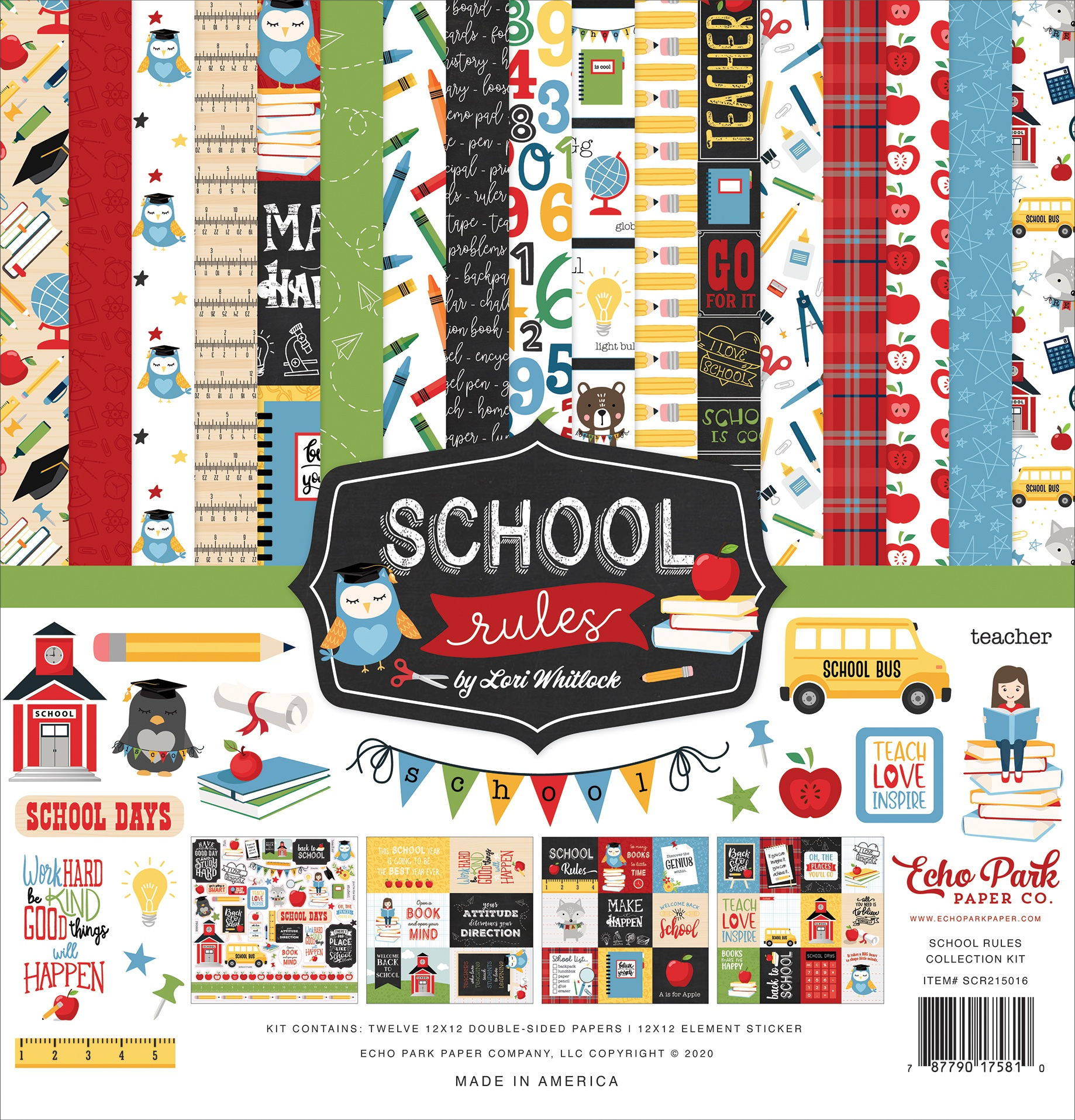 Echo Park Collection Kit 12X12-School Rules