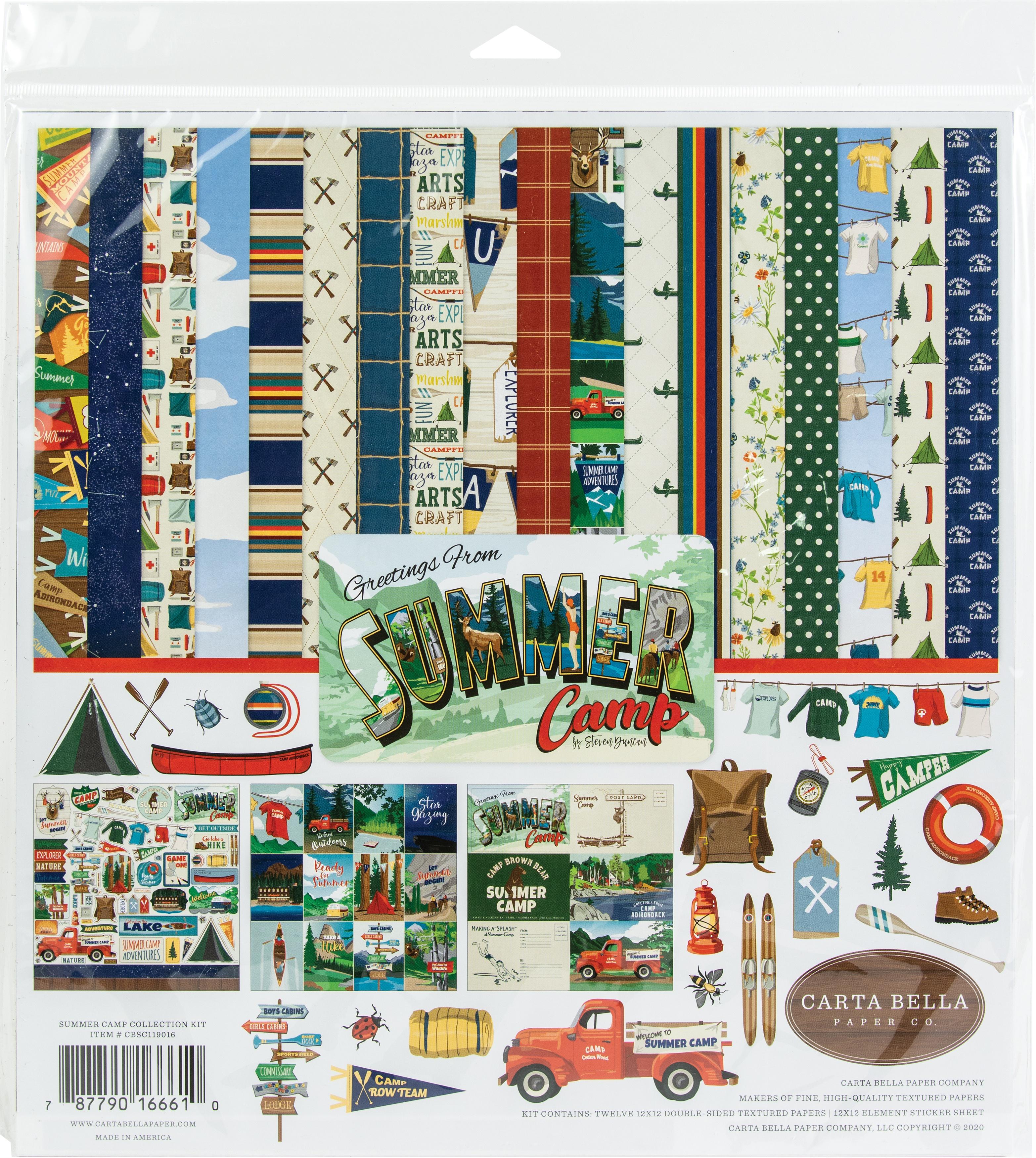 Carta Bella Collection Kit 12X12-Summer Camp