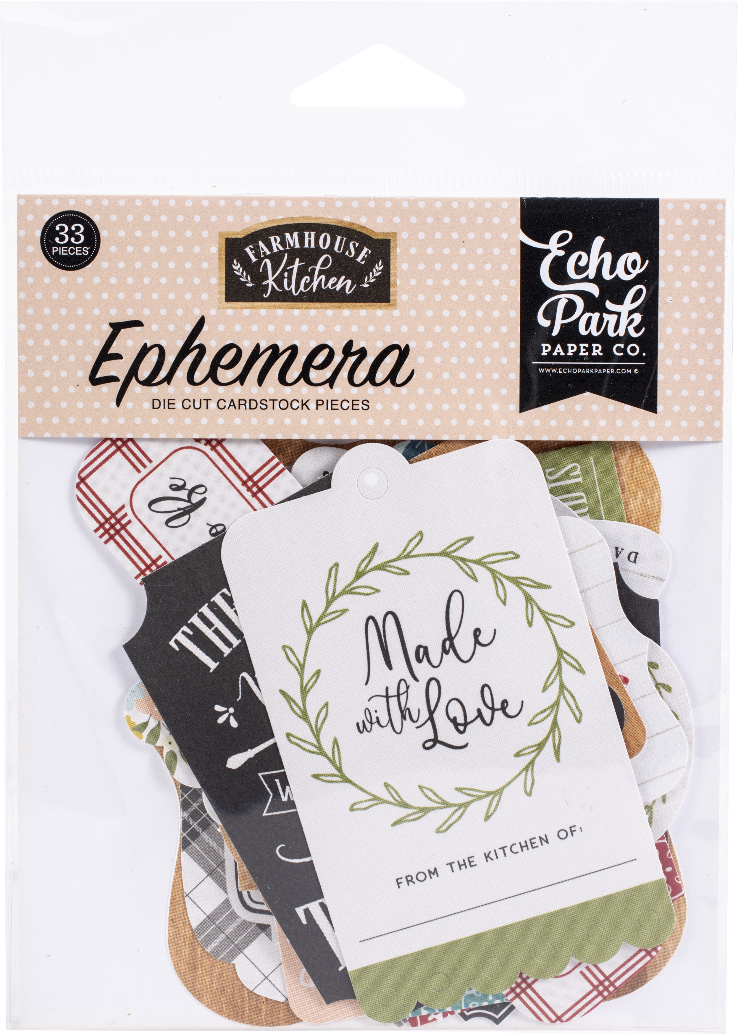 Farmhouse Kitchen - Ephemera Die Cut Cardstock Pieces (Echo Park)
