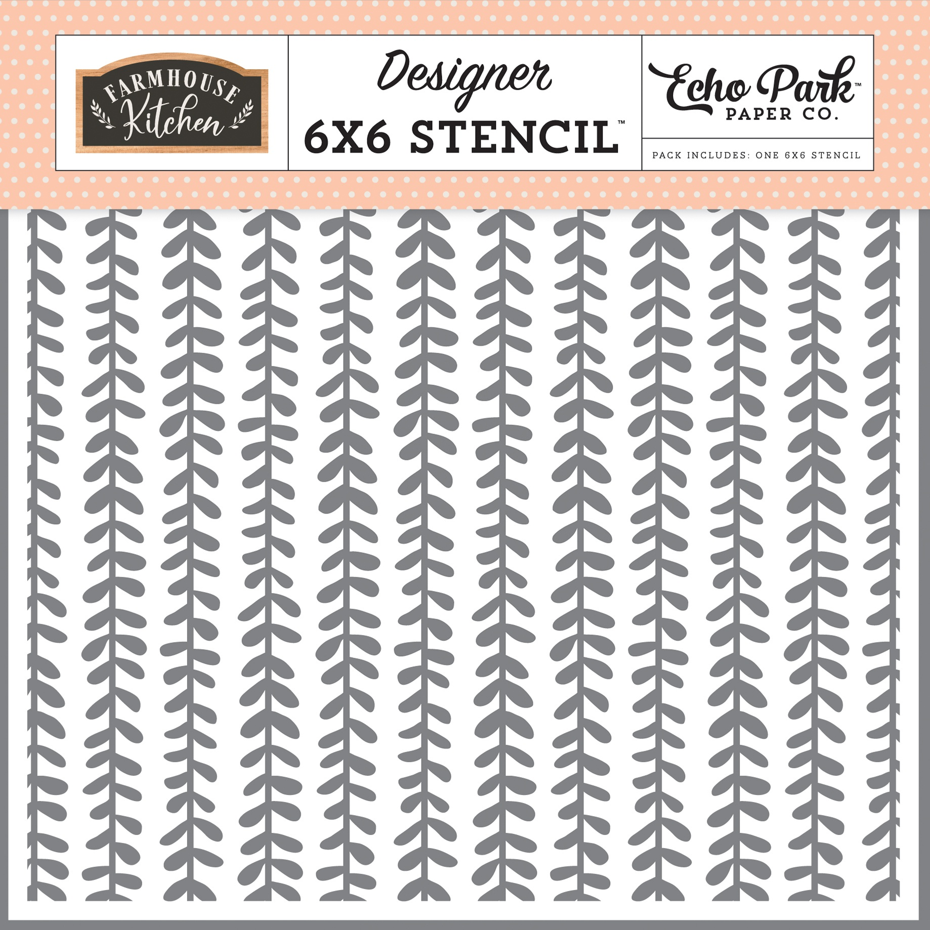 Echo Park Farmhouse Kitchen  - Sweet Vines Stencil