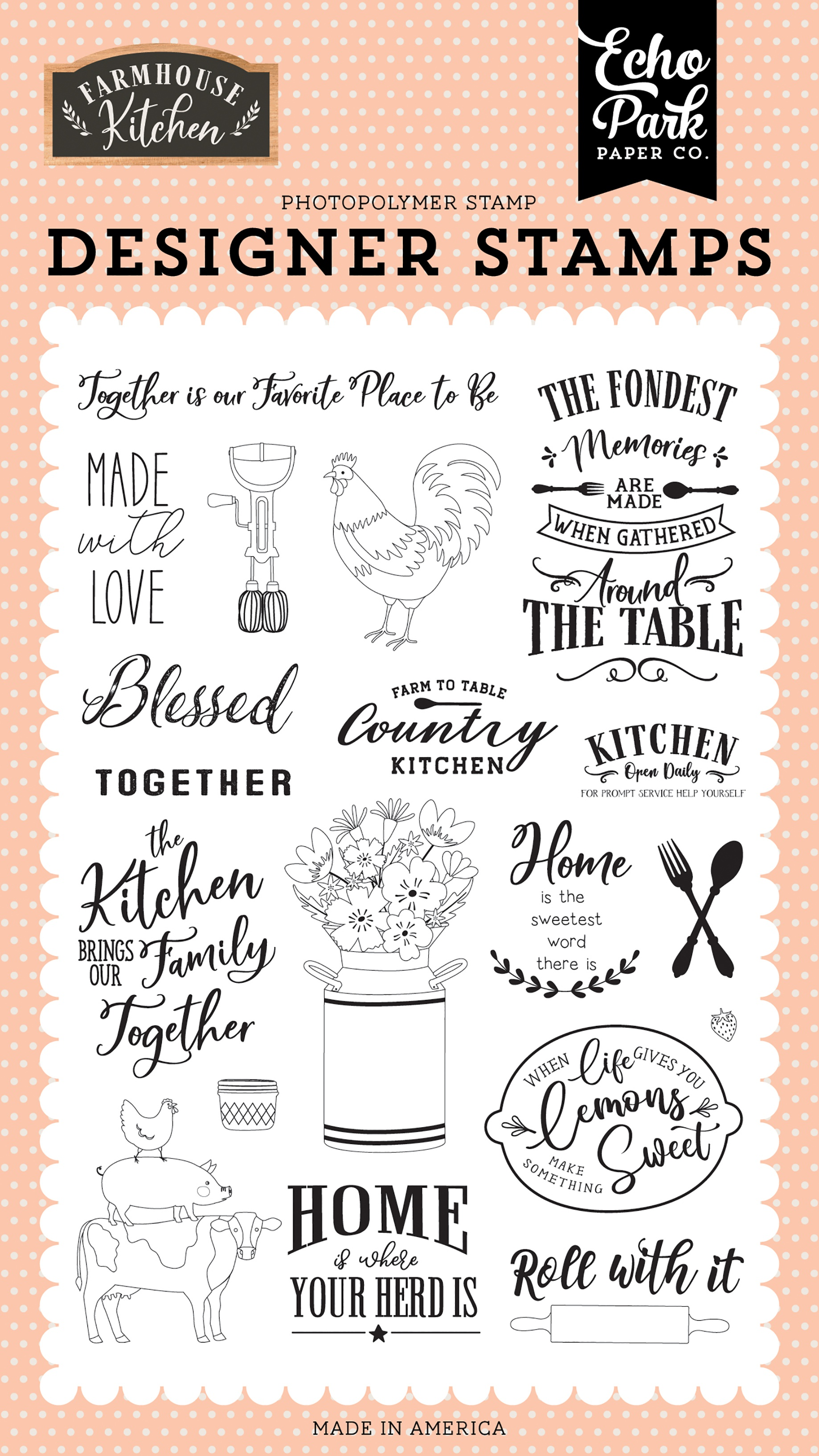 Farmhouse Kitchen Made With Love Stamp Set