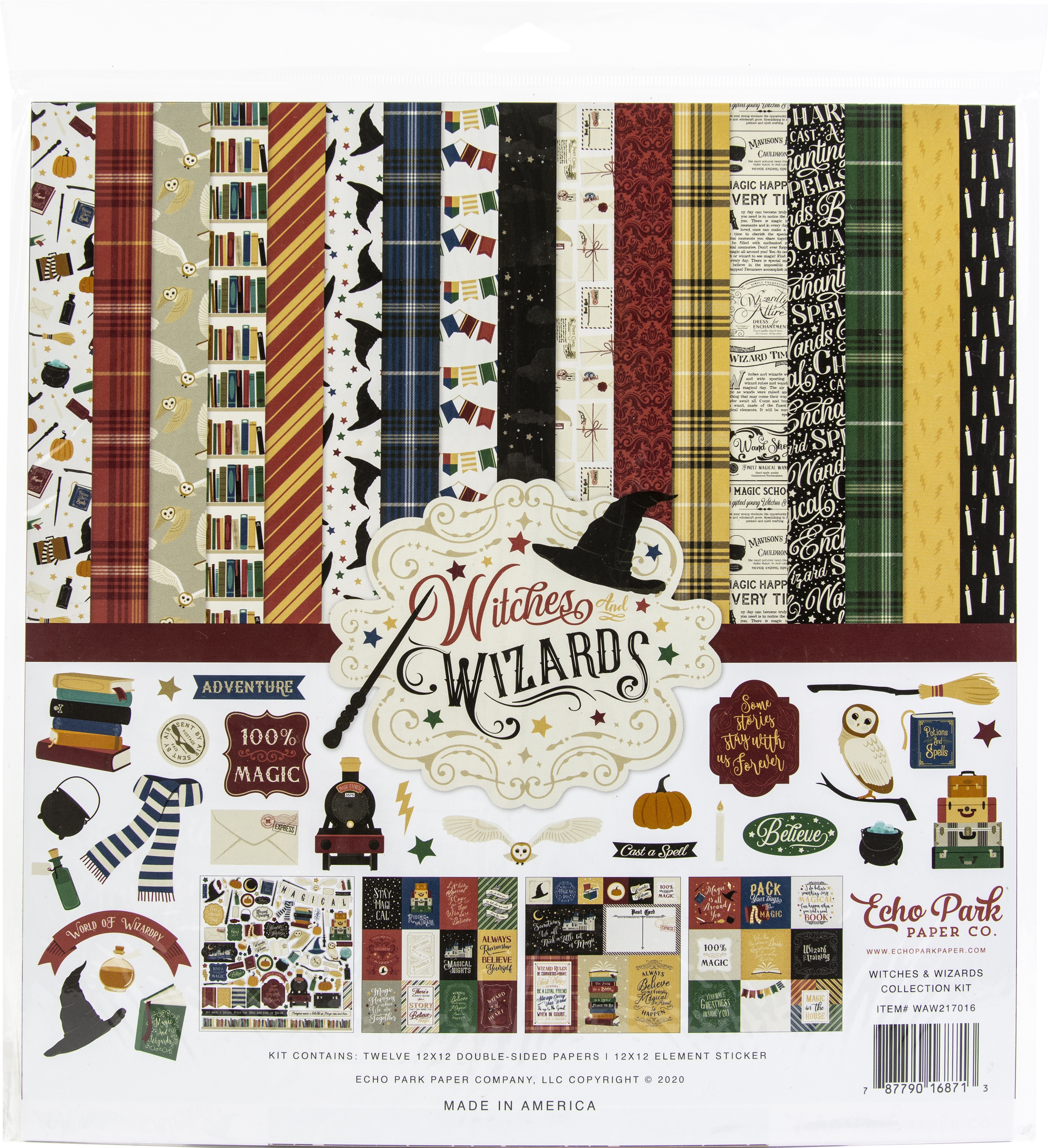 Echo Park Witches And Wizards Collection Kit