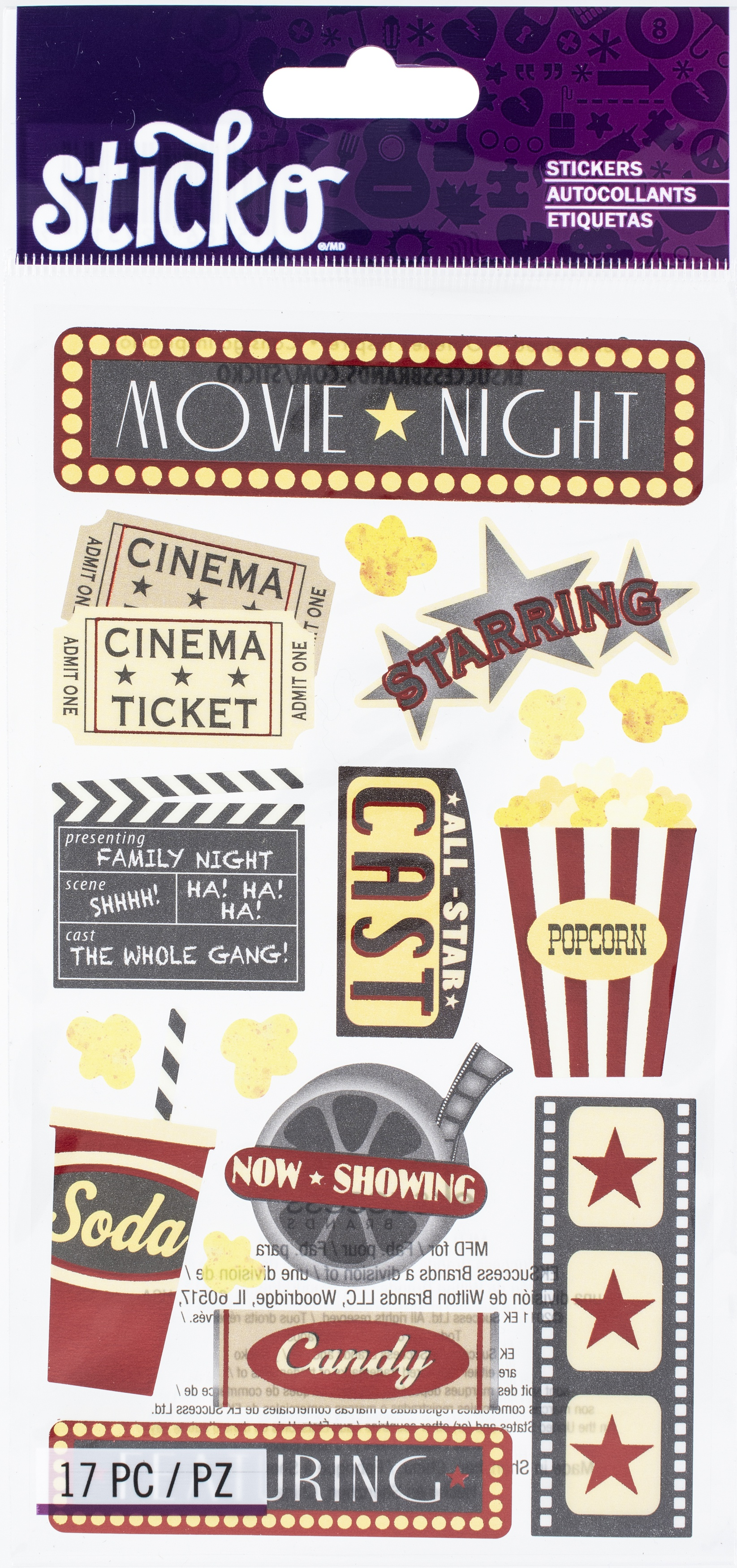 Sticko Stickers-Movie Night