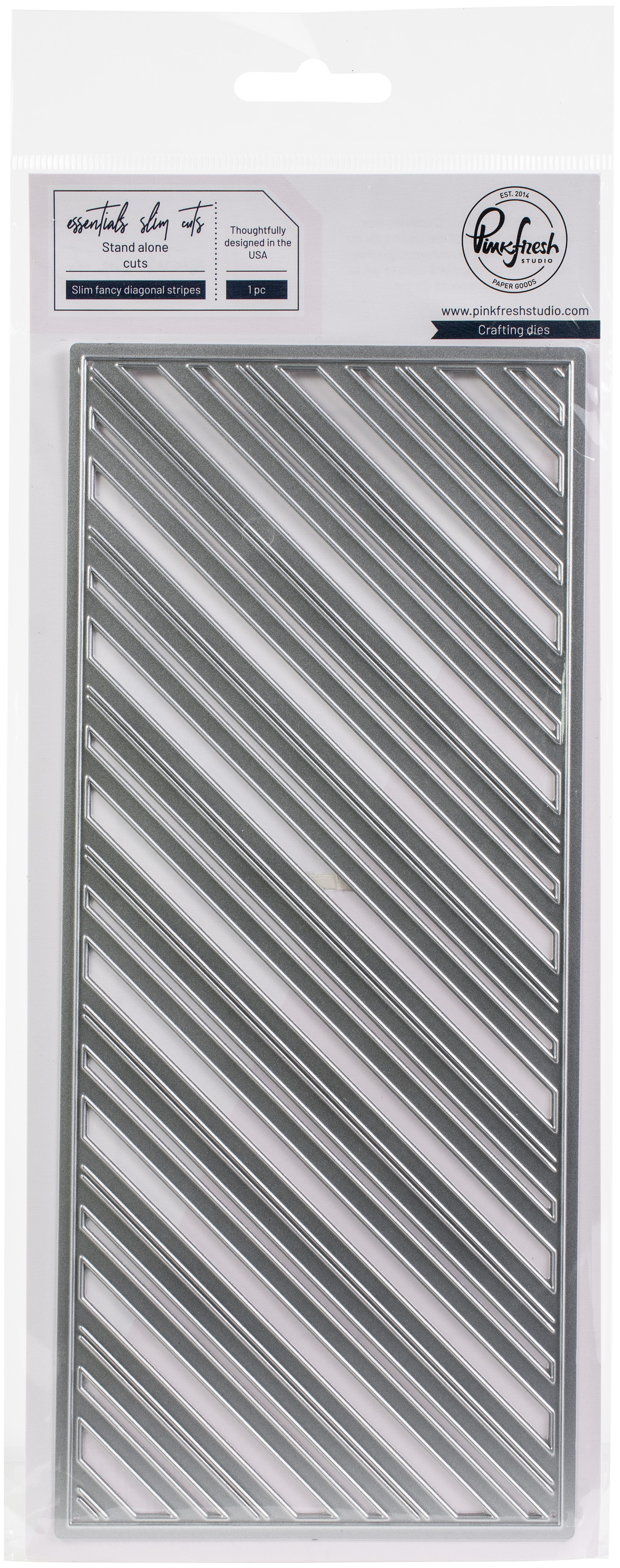 Slim Fancy Diagonal Stripes Die Set
