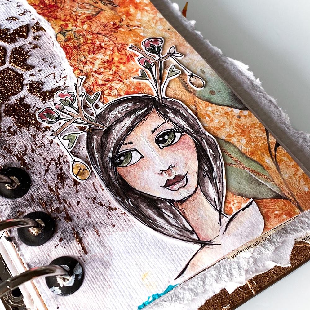 Elizabeth Crafts Clear Stamps-Earthy Girls