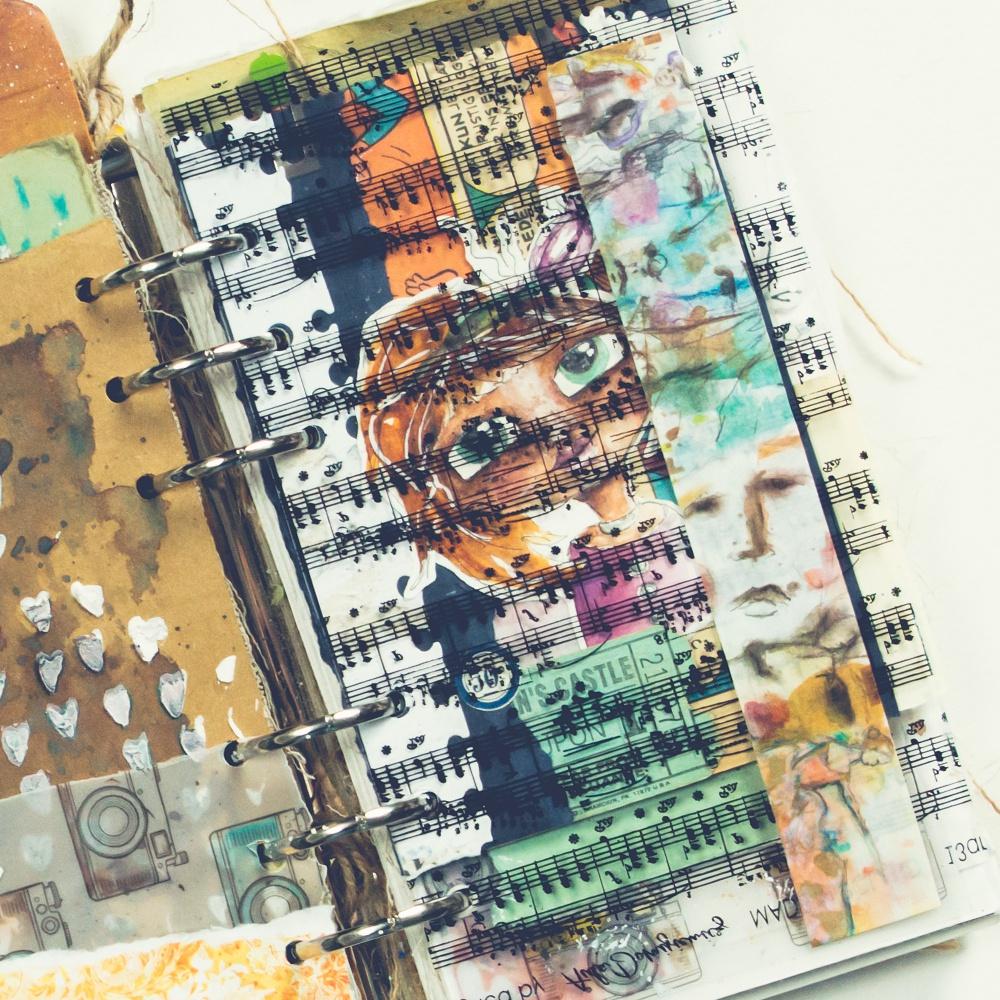 Elizabeth Crafts Clear Stamps-Floral Girls-Art Journal