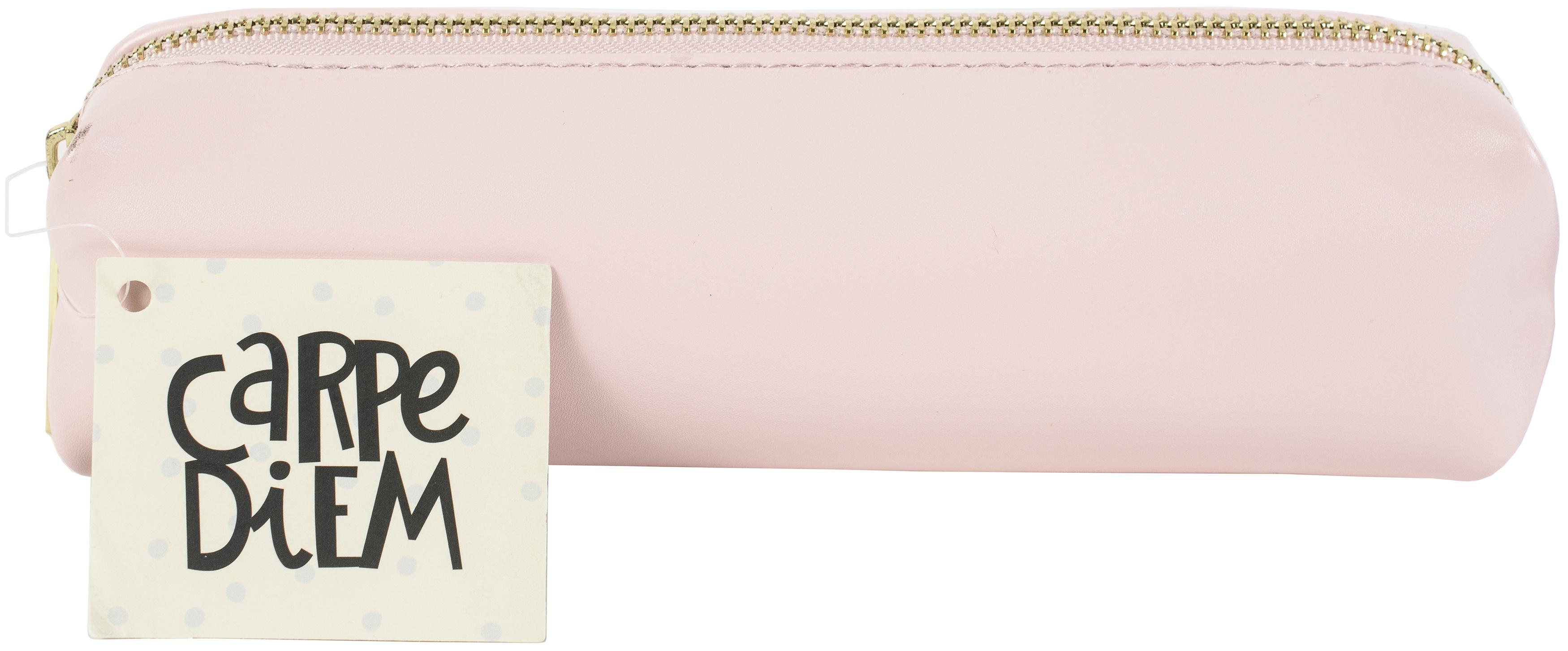 Carpe Diem Slim Pencil Case-Ballerina Pink