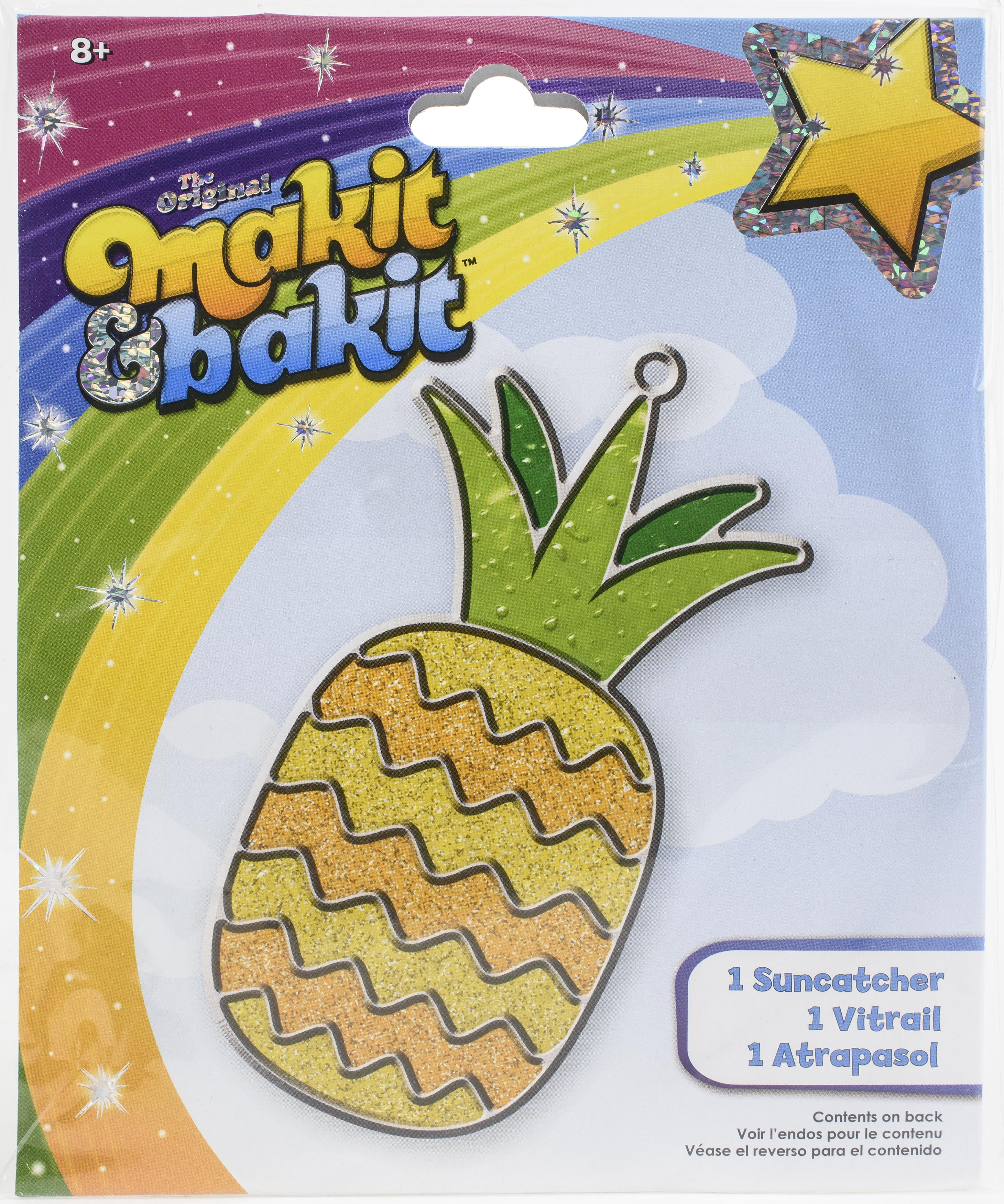 Makit & Bakit Suncatcher Kit-Pineapple