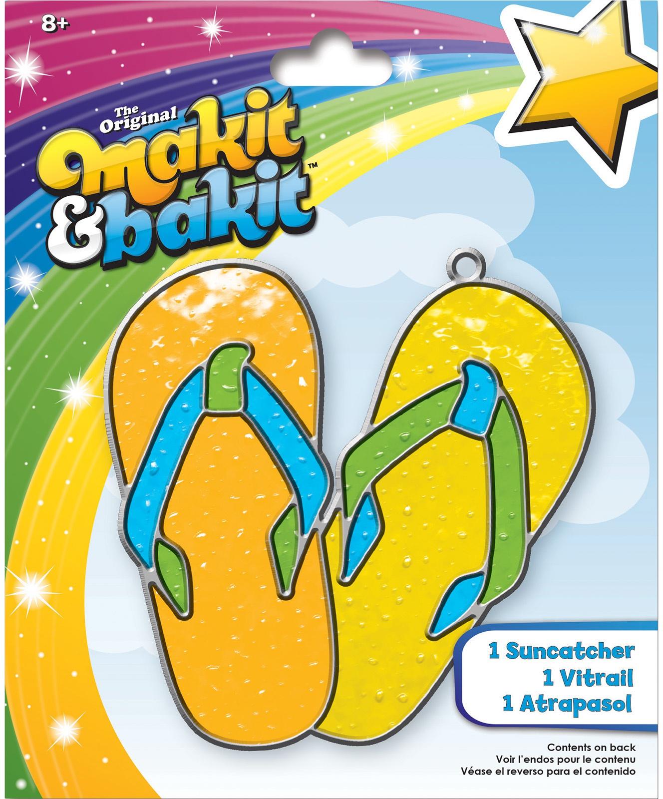 Makit & Bakit Suncatcher Kit-Flip Flops