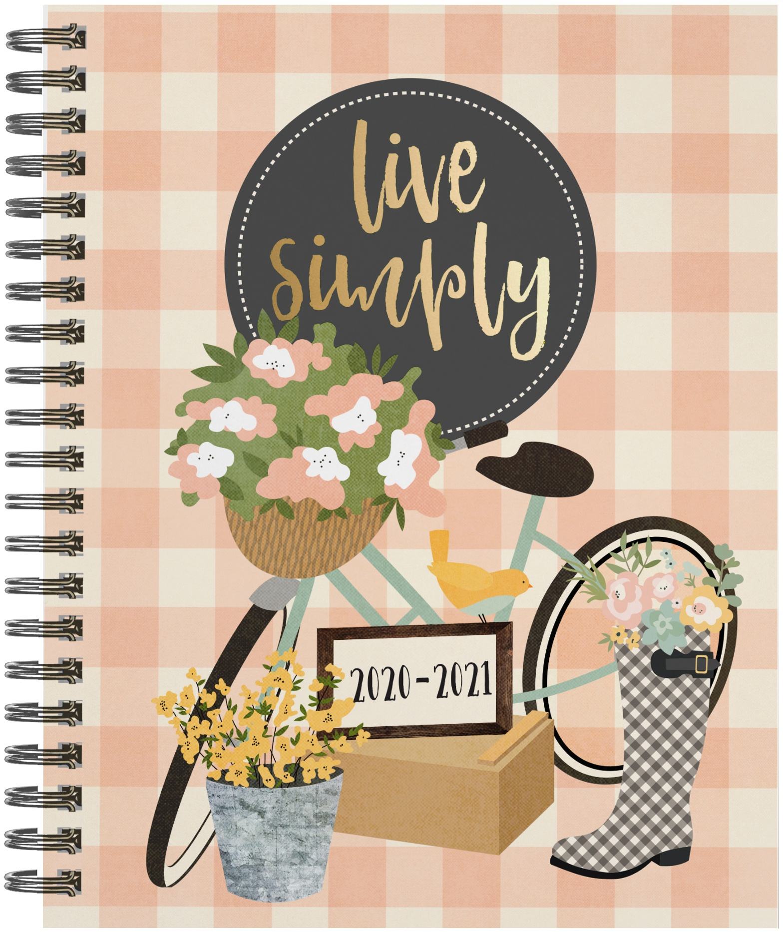 Carpe Diem Spiral 17-Month Dated Weekly Planner 7X8.75-Live Simply, Aug 2020-D...