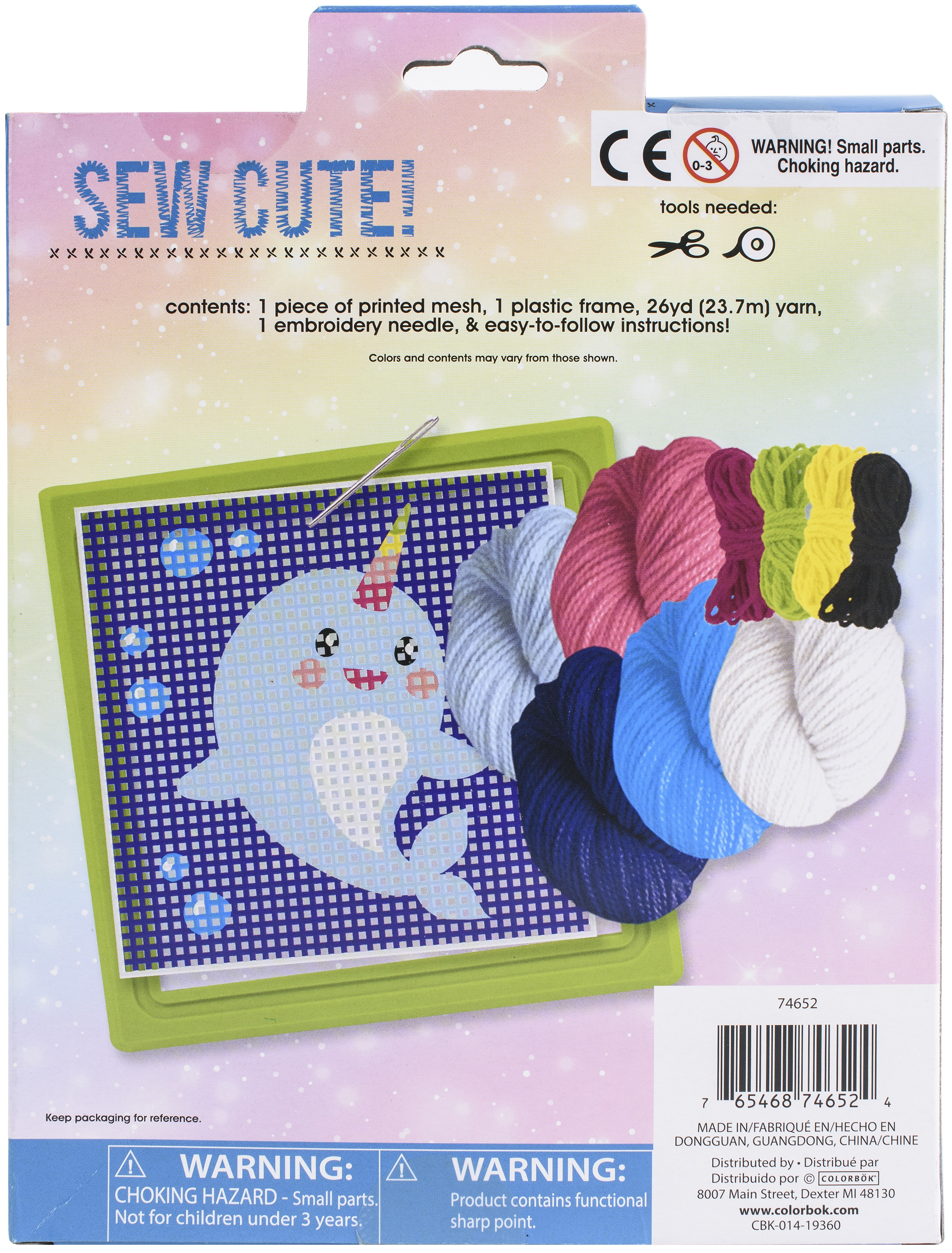 Sew Cute! Needlepoint Kit-Narwhal