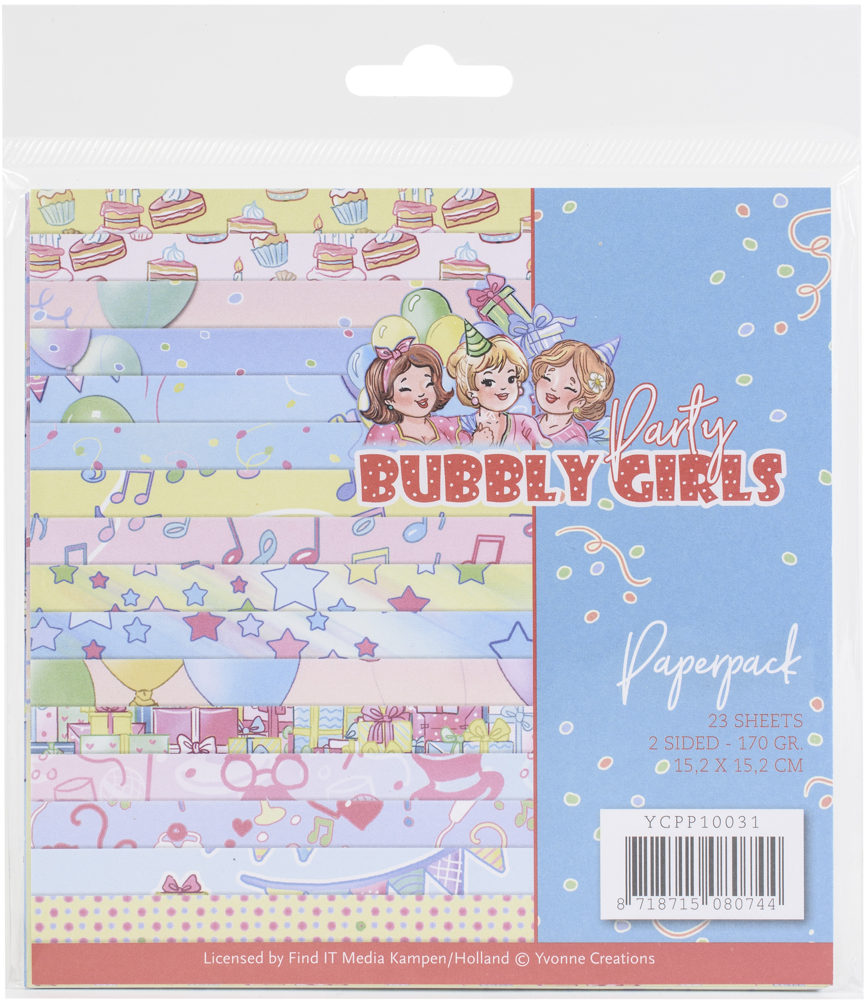 Find It Trading Yvonne Creations 6x6 Paper Pack- Bubbly Girls Party