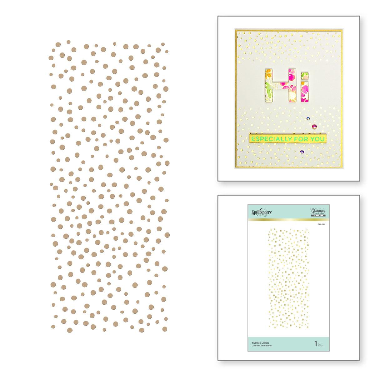 Spellbinders - Glimmer Backgrounds Hot Foil Plate-Twinkle Lights