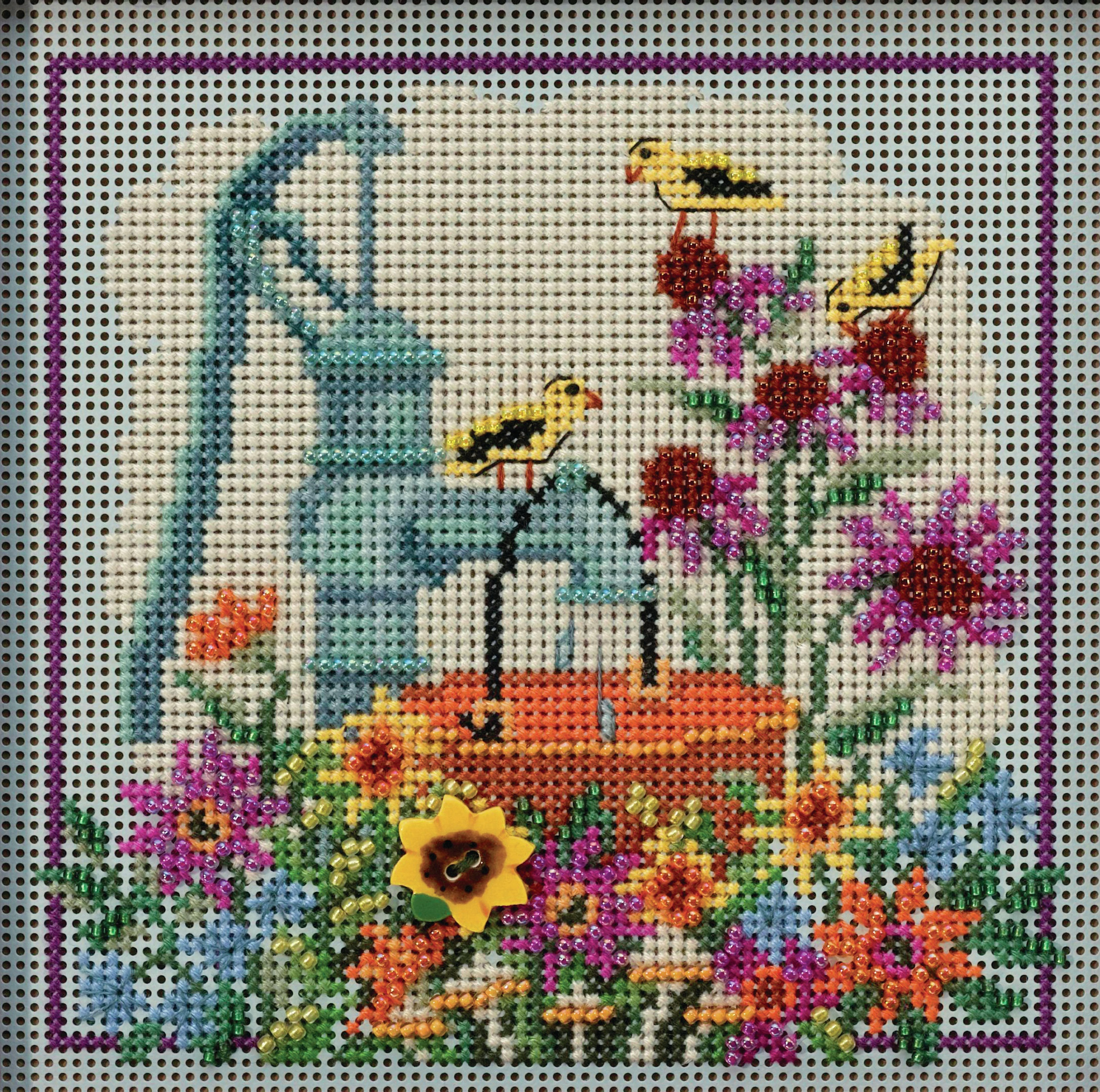 Water Pump counted cross  stitch kit