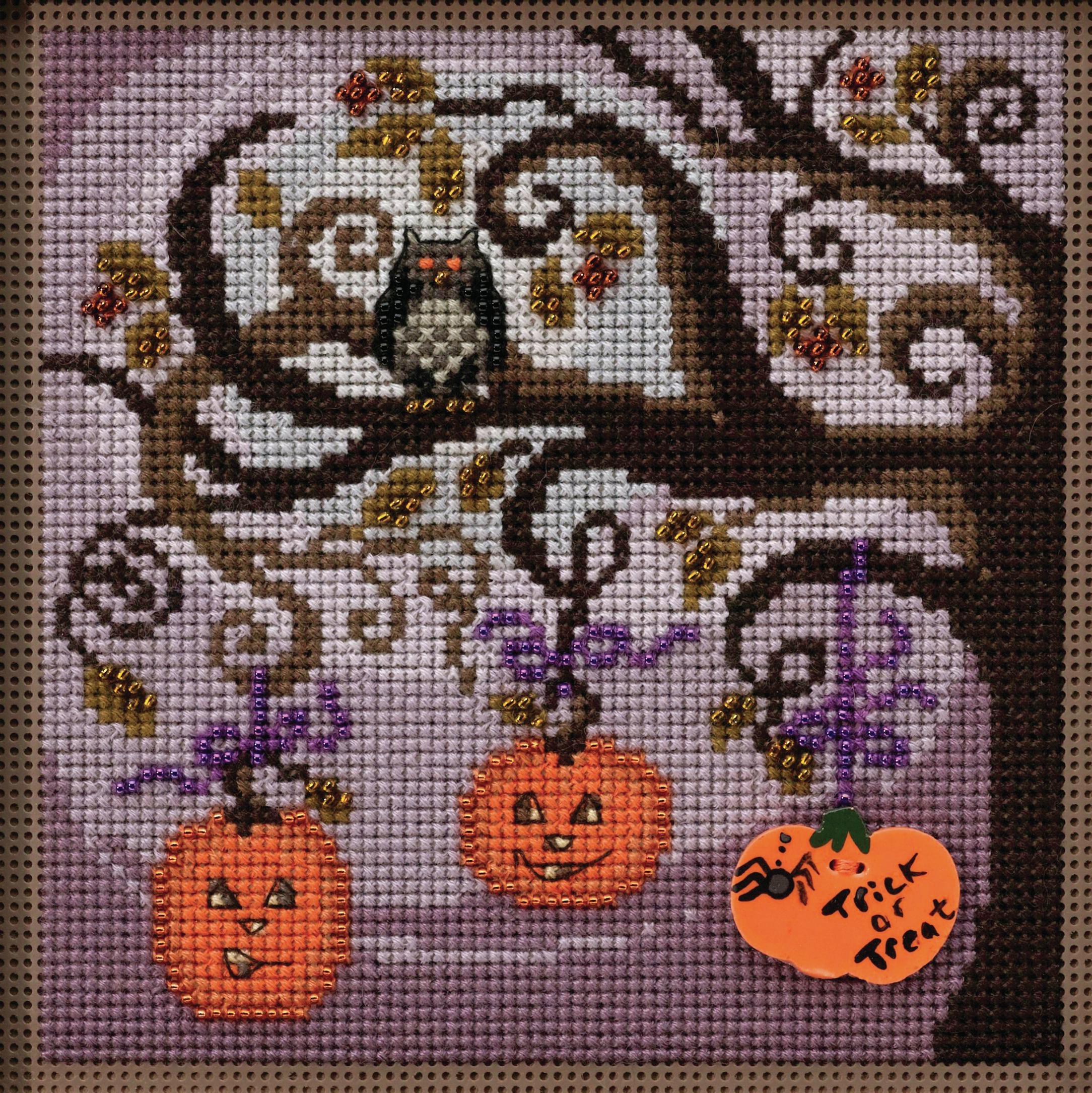 Pumpkin Tree counted cross stitch kit