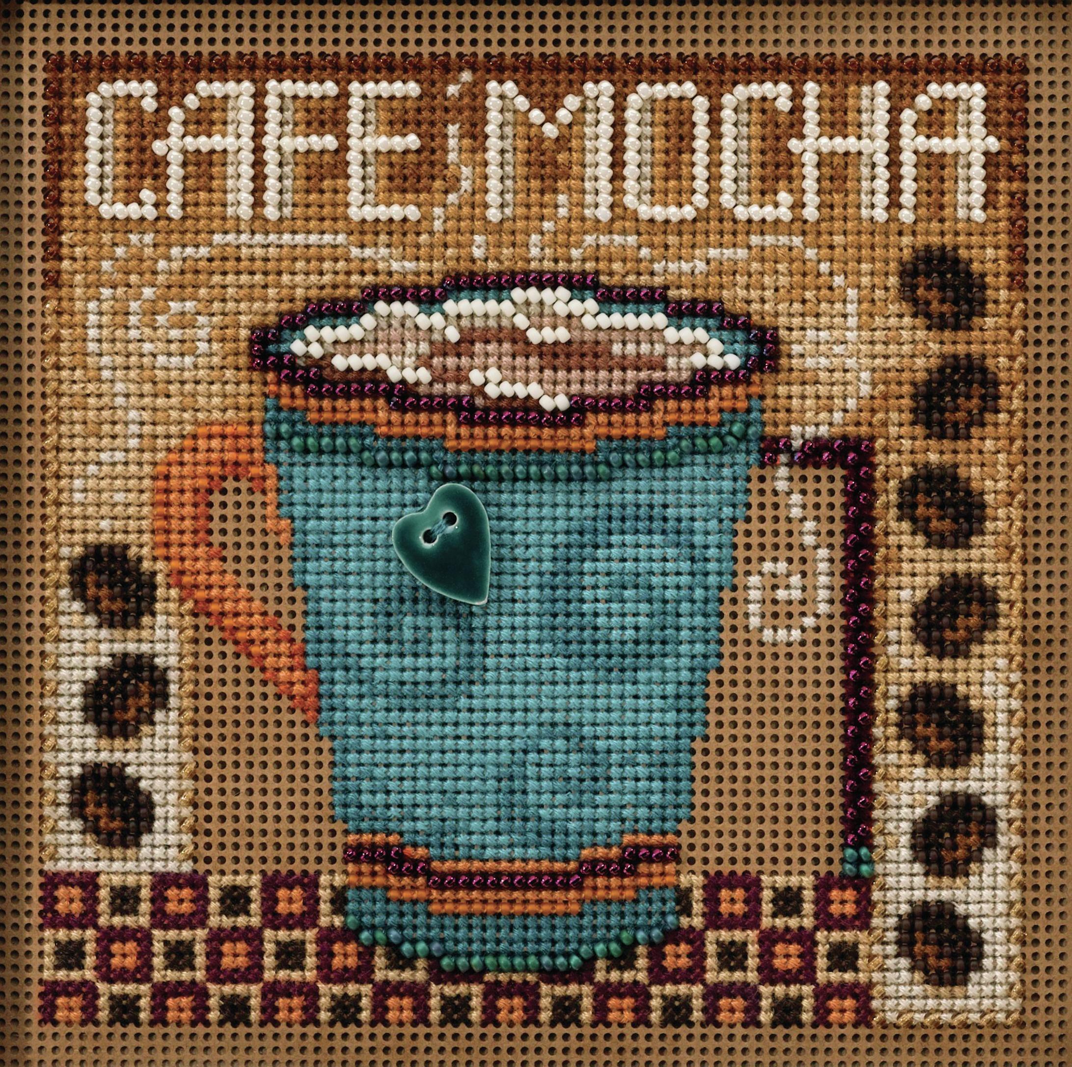 Cafe Mocha counted cross stitch kit