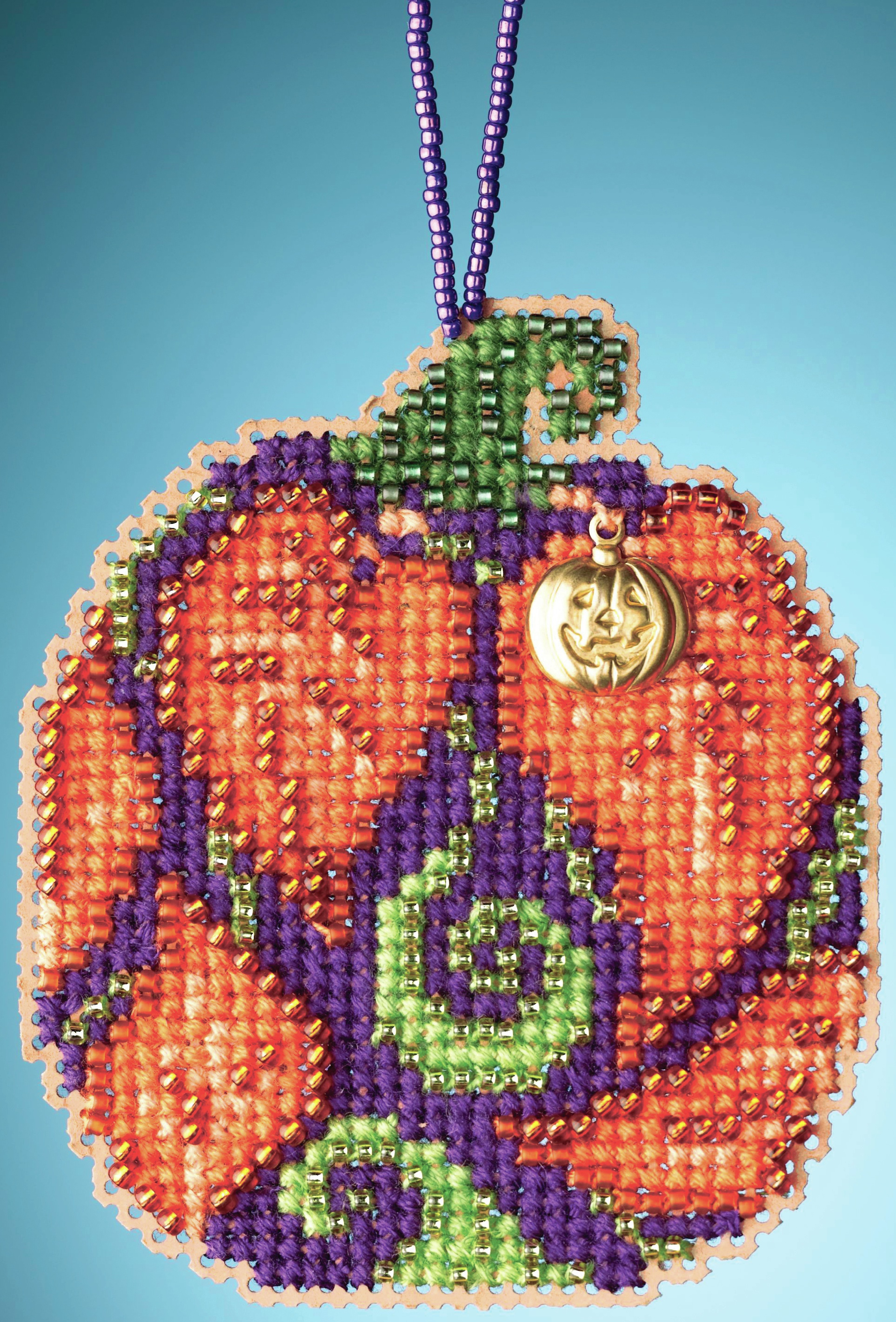 Autumn Pumpkin counted cross stitch kit