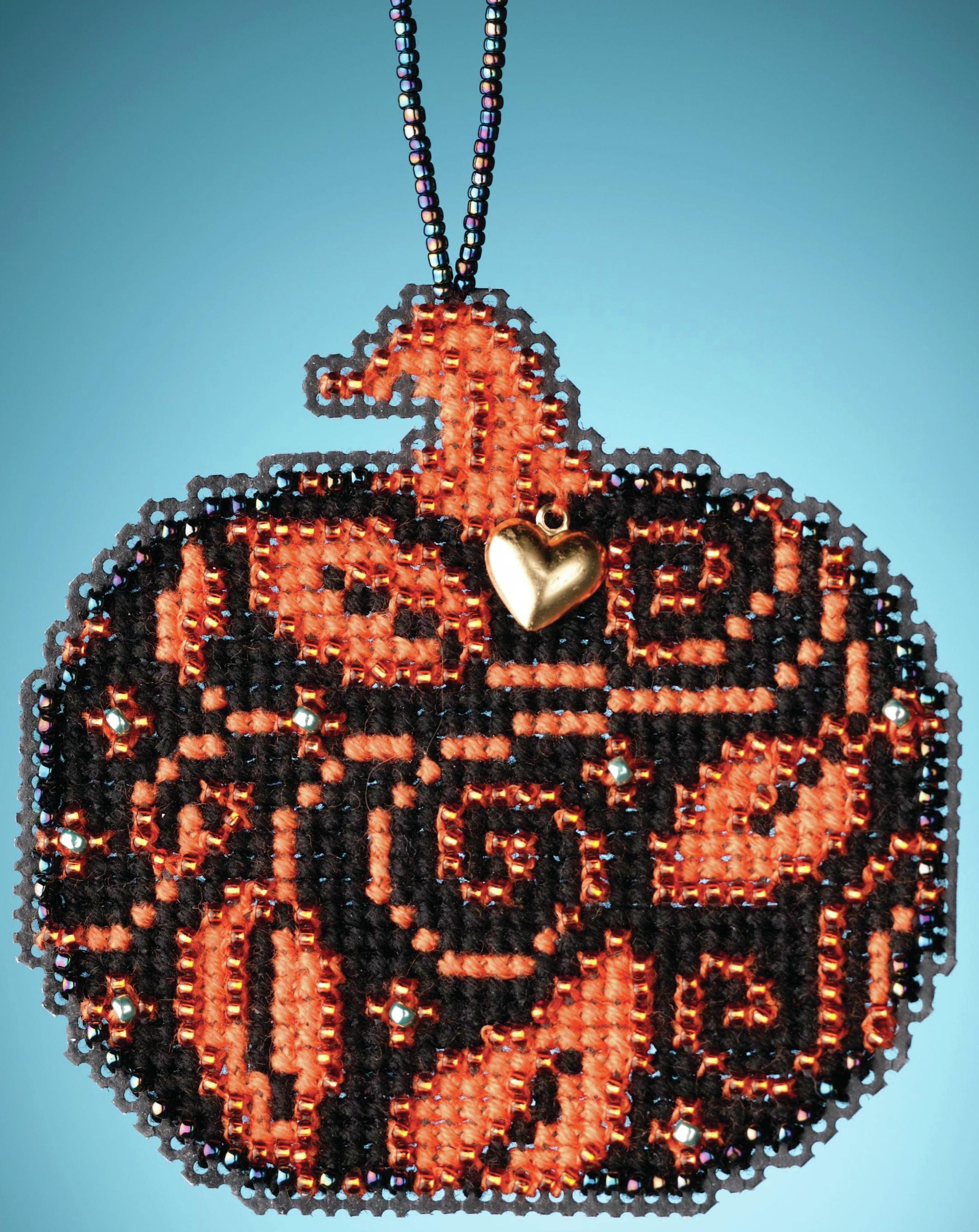 Glowing Pumpkin counted cross stitch kit