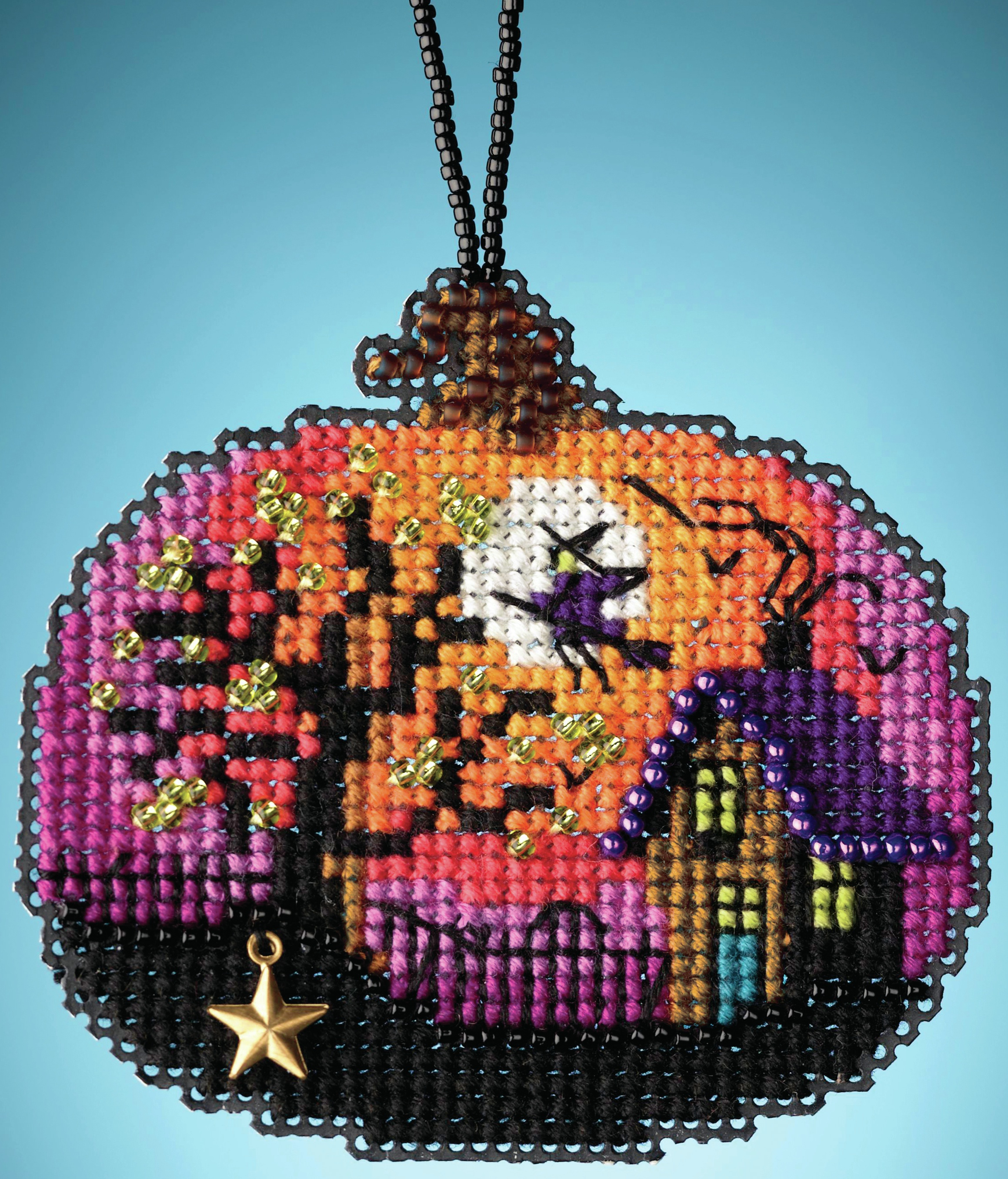 Bewitching Pumpkin counted cross stitch kit