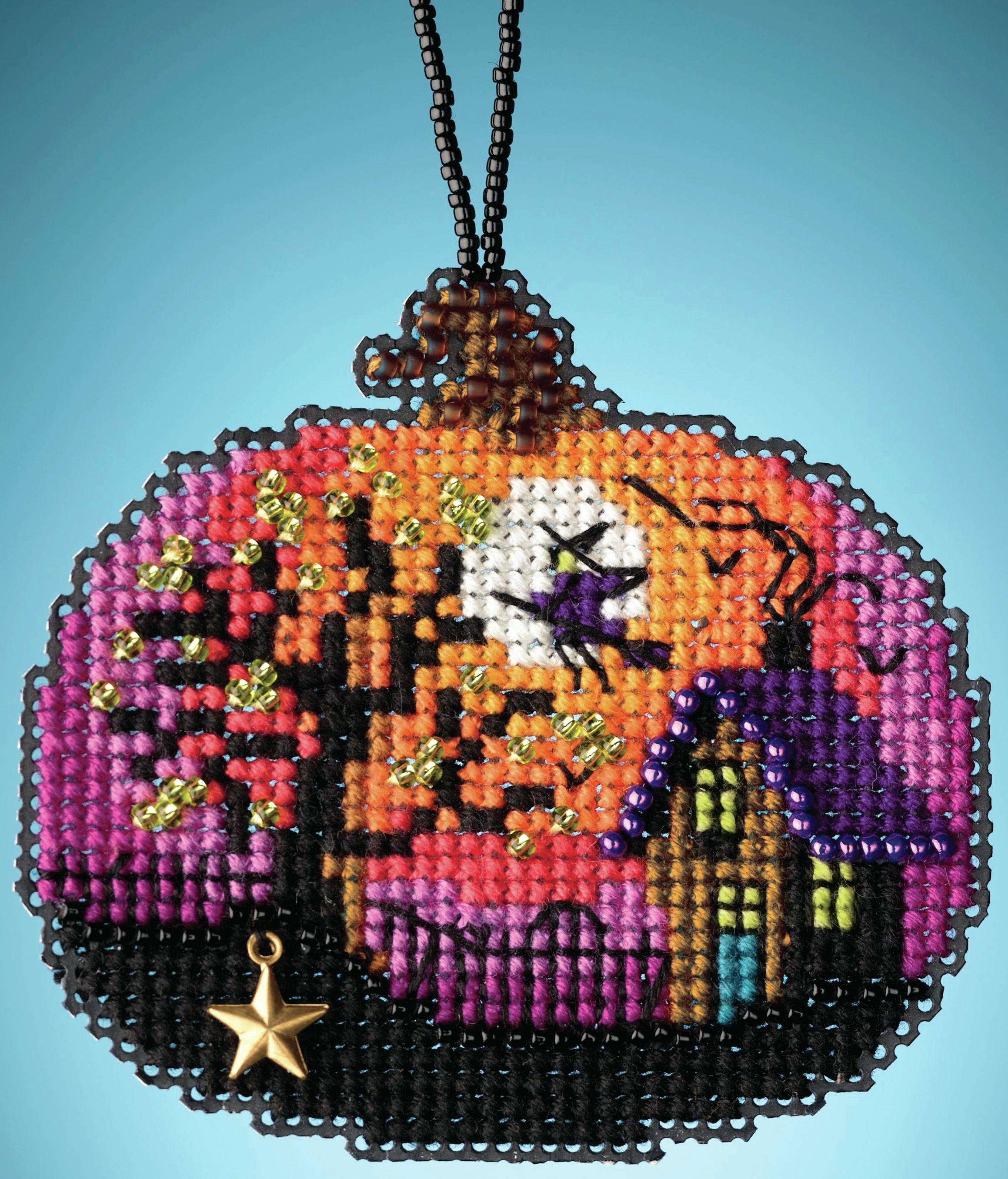 Bewitching Pumpkin counted cross stitch kit