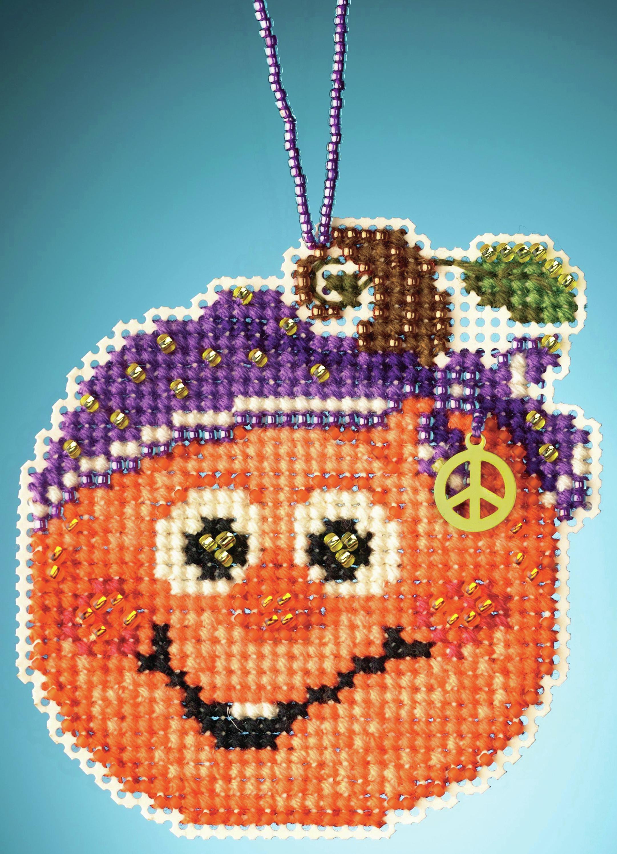 Hippie Pumpkin counted cross stitch kit
