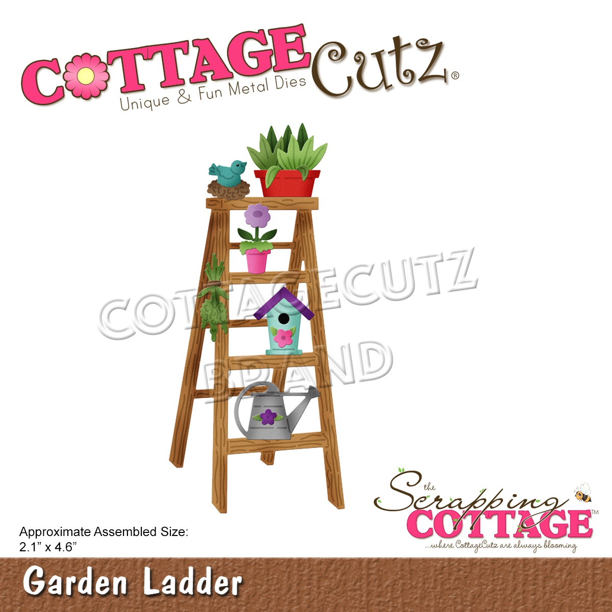 CottageCutz Dies-Garden Ladder 2.1X4.6