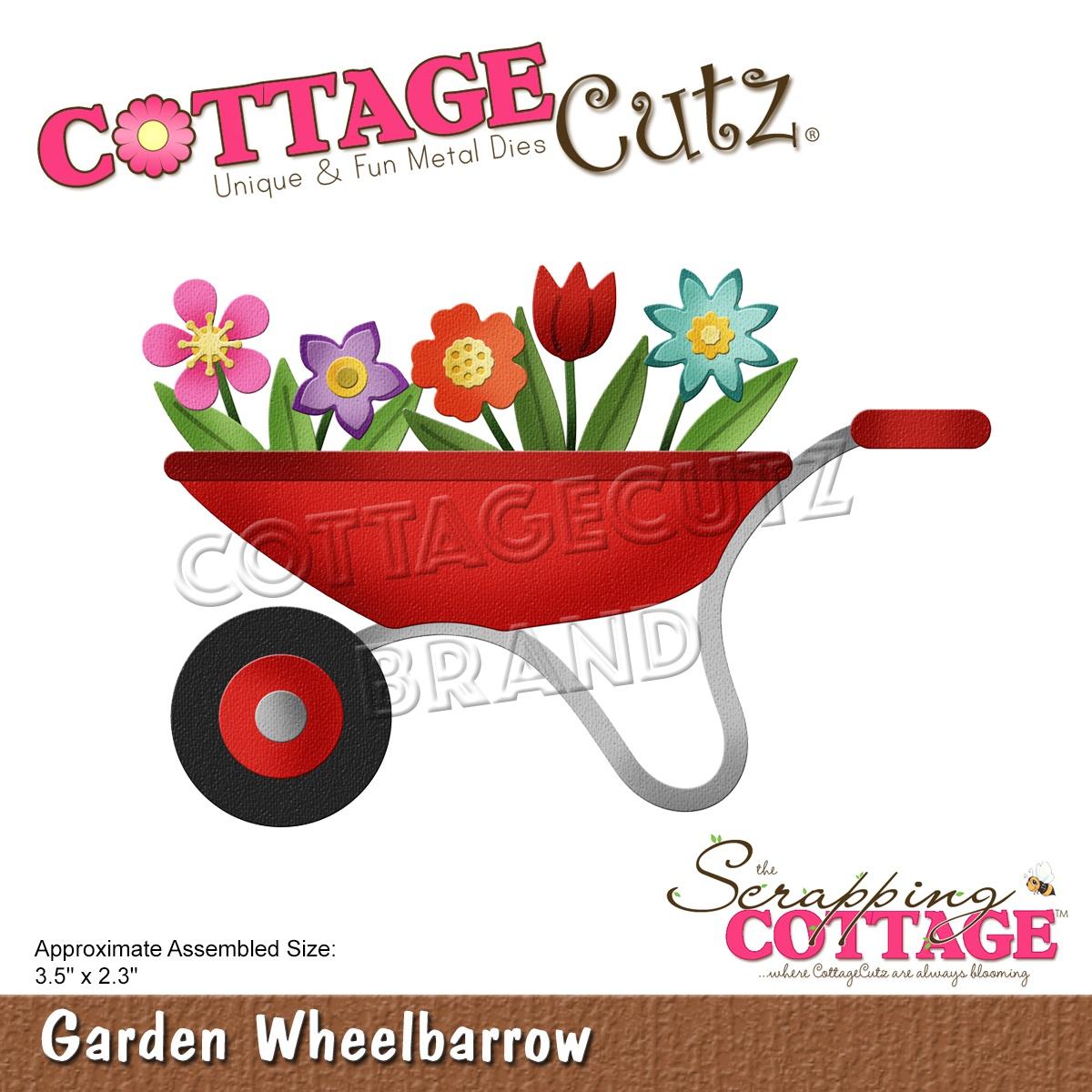 CottageCutz Dies-Garden Wheelbarrow 3.5X2.3