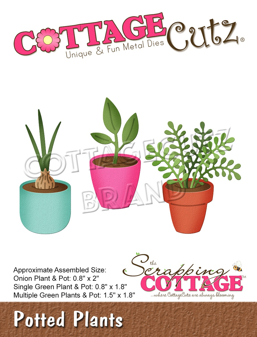 CottageCutz Dies-Potted Plants 2 To .8