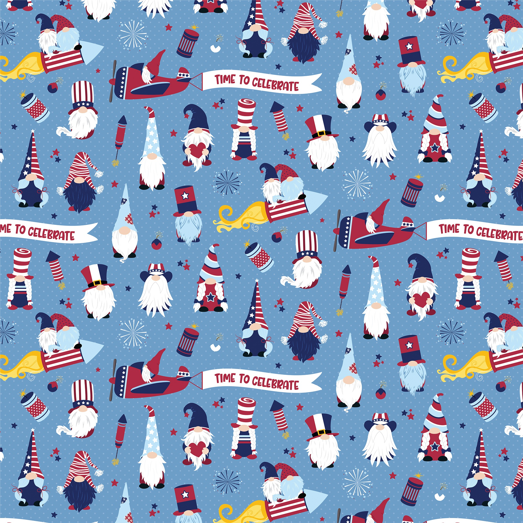 Gnome For July 4th Double-Sided Cardstock 12X12-Land That I Love