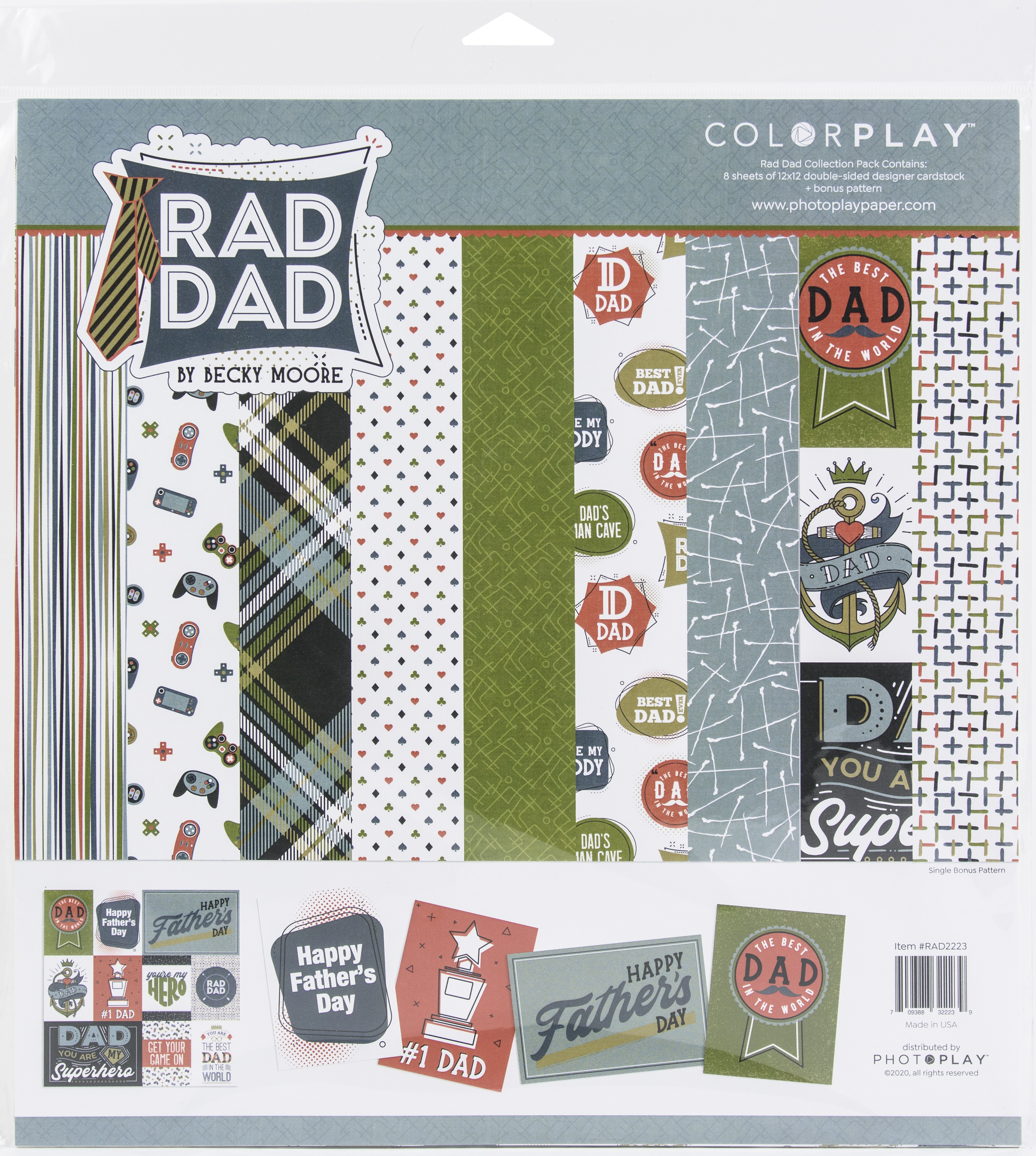ColorPlay Collection Pack 12X12-Rad Dad, 4 Designs/2 Each +