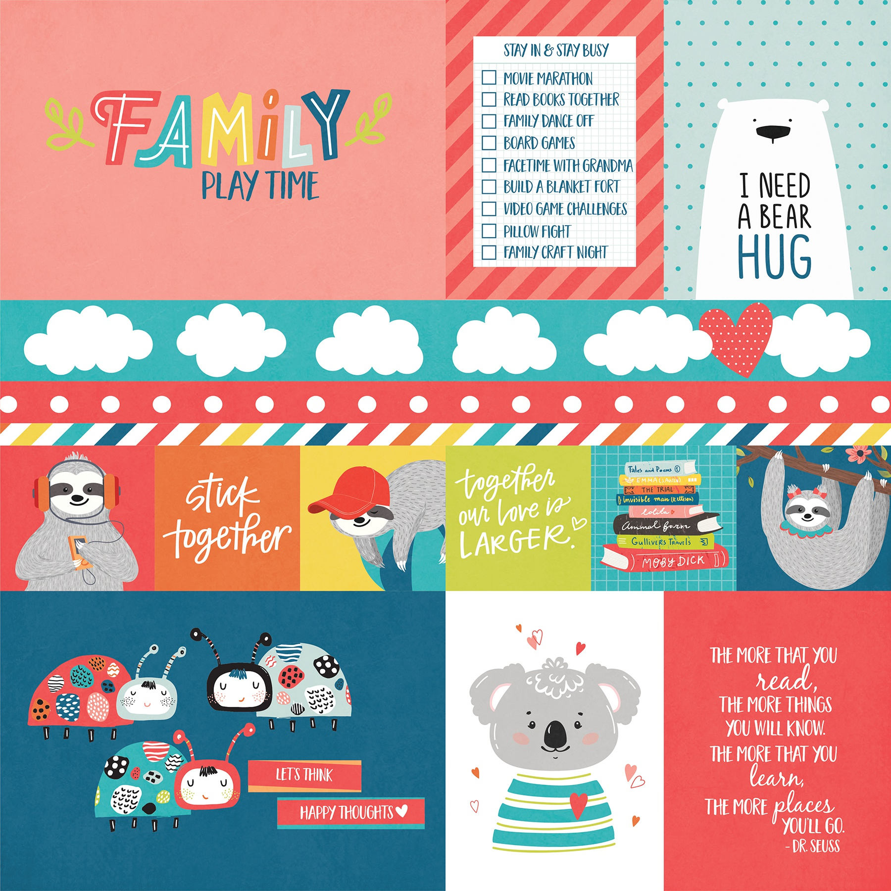 We Can Just Stay Home Double-Sided Cardstock 12X12-Stick Together