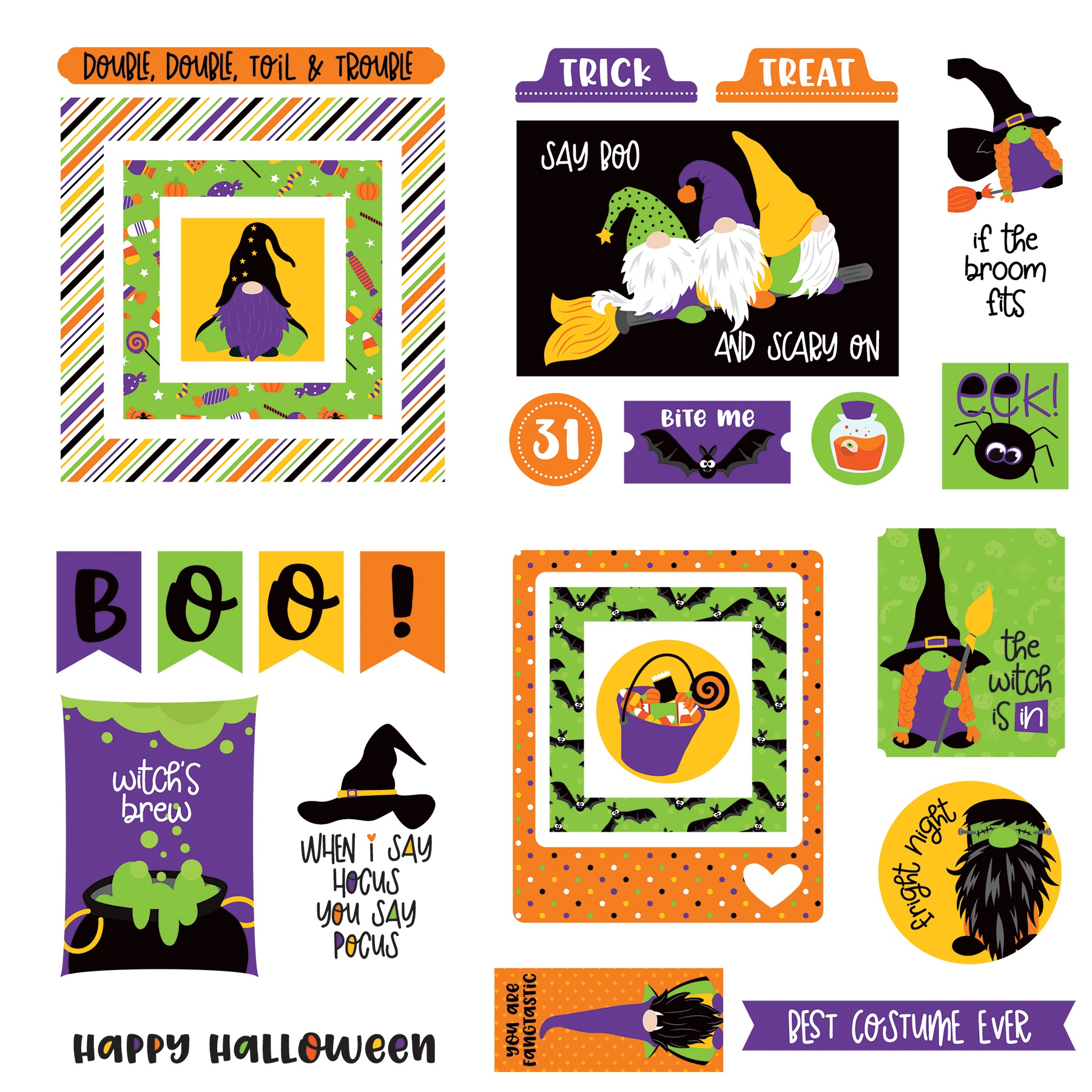 Gnome For Halloween Ephemera Cardstock Die-Cuts-