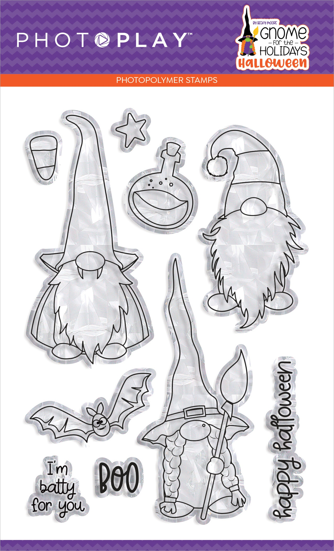 PhotoPlay Photopolymer Stamp-Gnome For Halloween