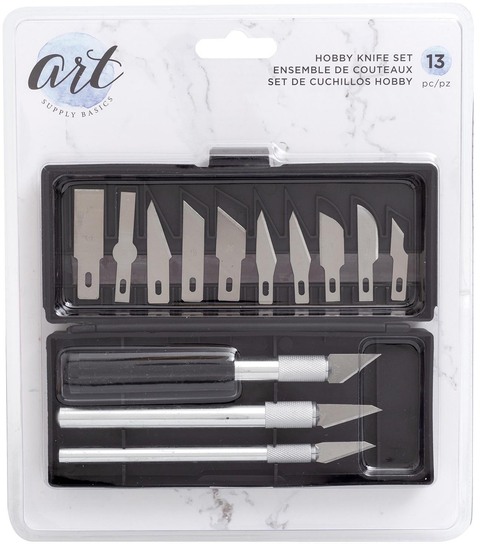 Art Supply Basics Hobby Knife Set-13/Pkg