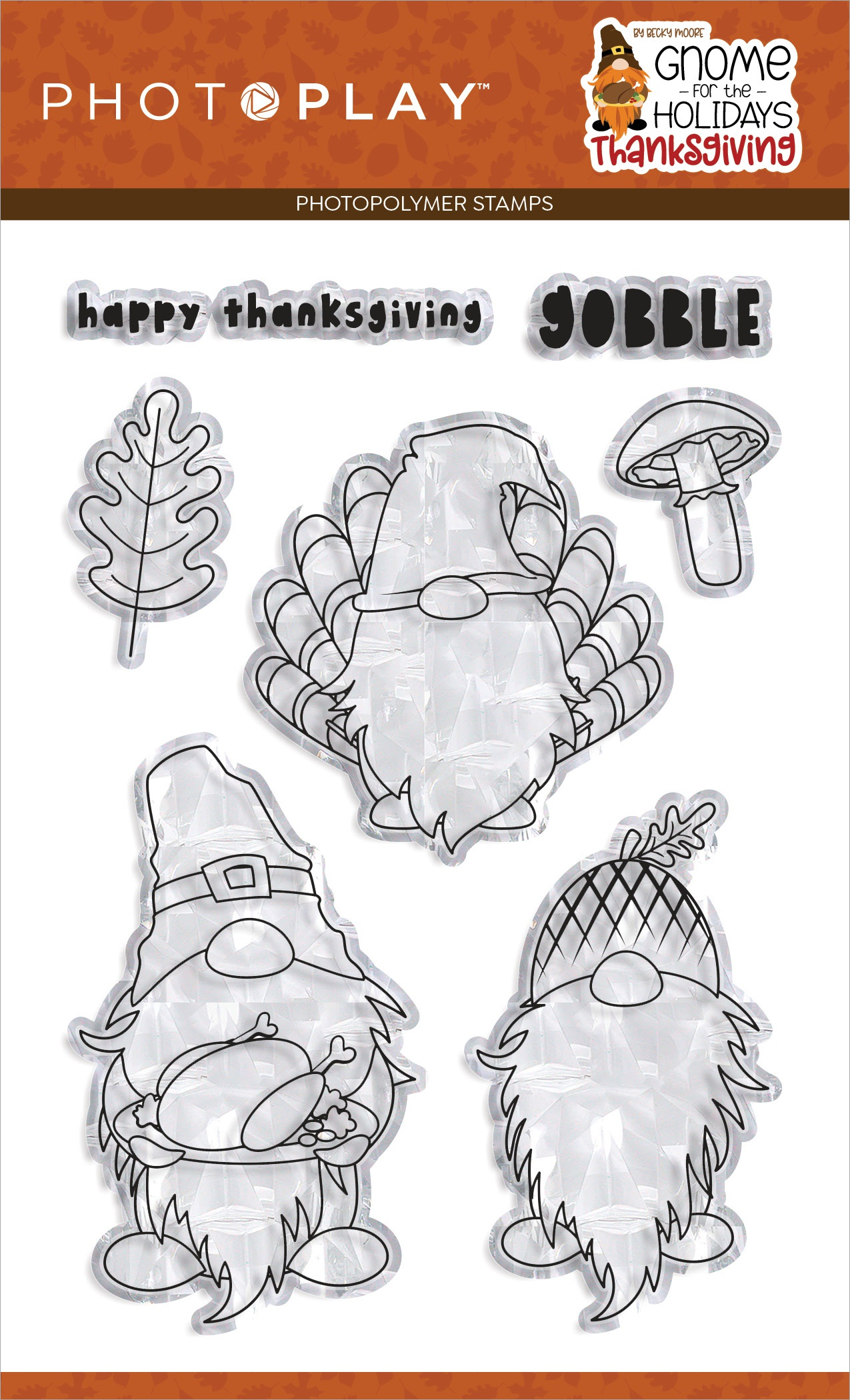 PhotoPlay Photopolymer Stamp-Gnome For Thanksgiving