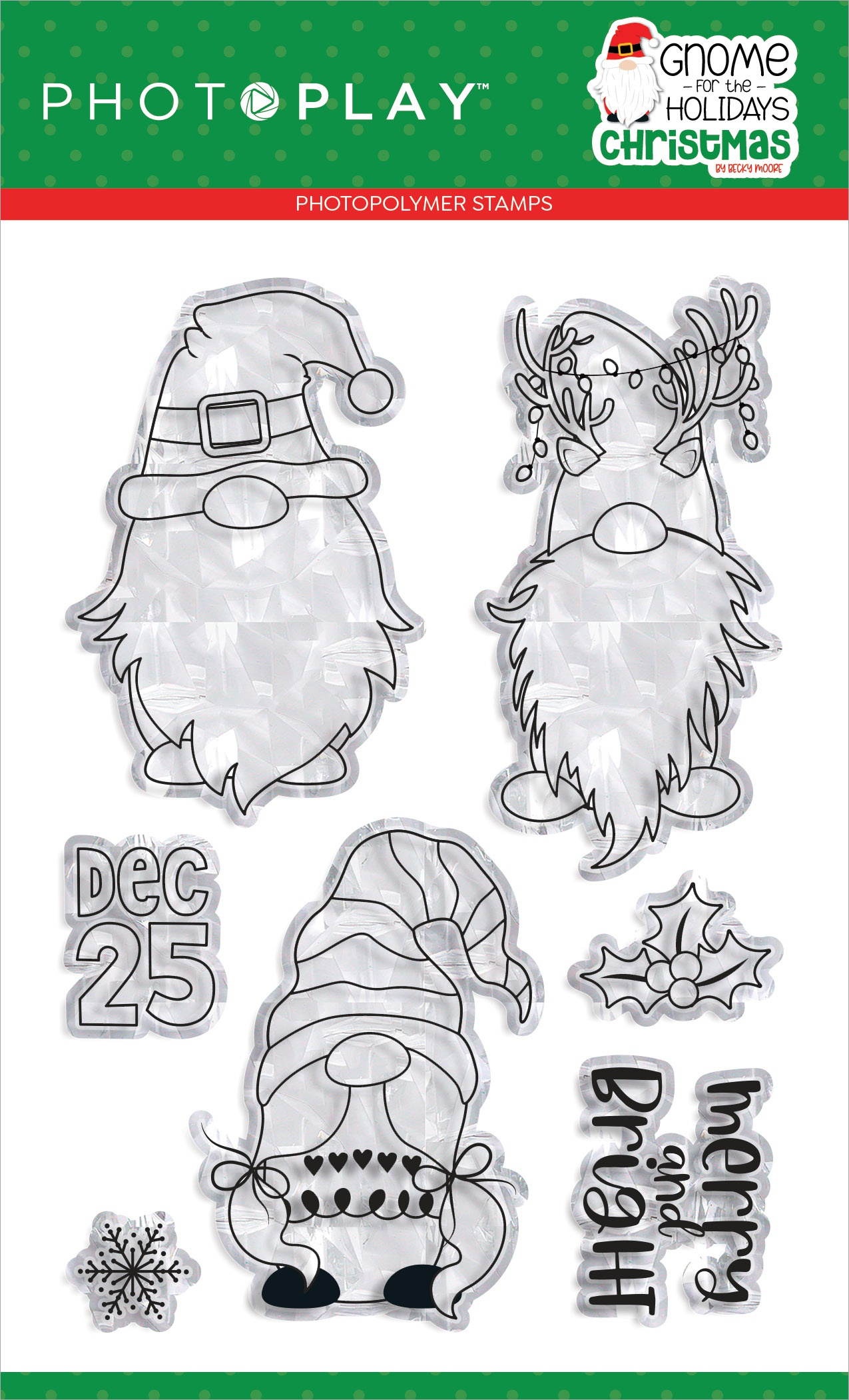 PhotoPlay Photopolymer Stamp-Gnome For Christmas
