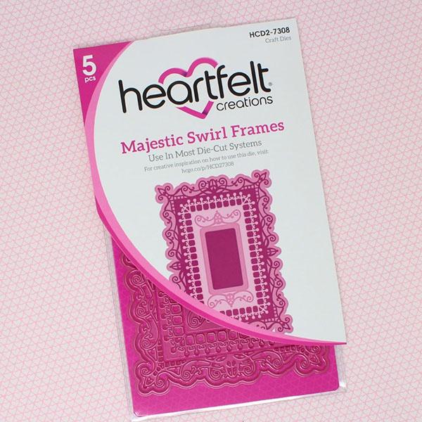 Heartfelt Creations Majestic Frames Cut & Emboss Dies-Majestic Swirl Frames
