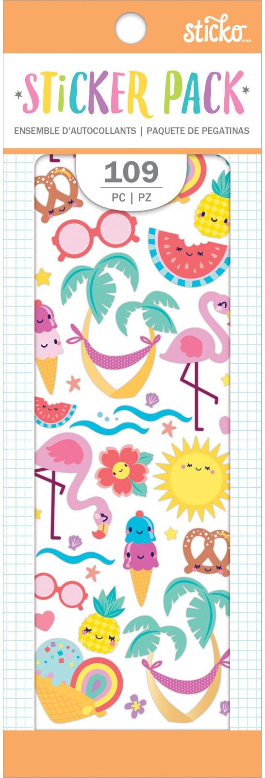 Sticko Sticker Pack-Summer Fun, 109/Pkg
