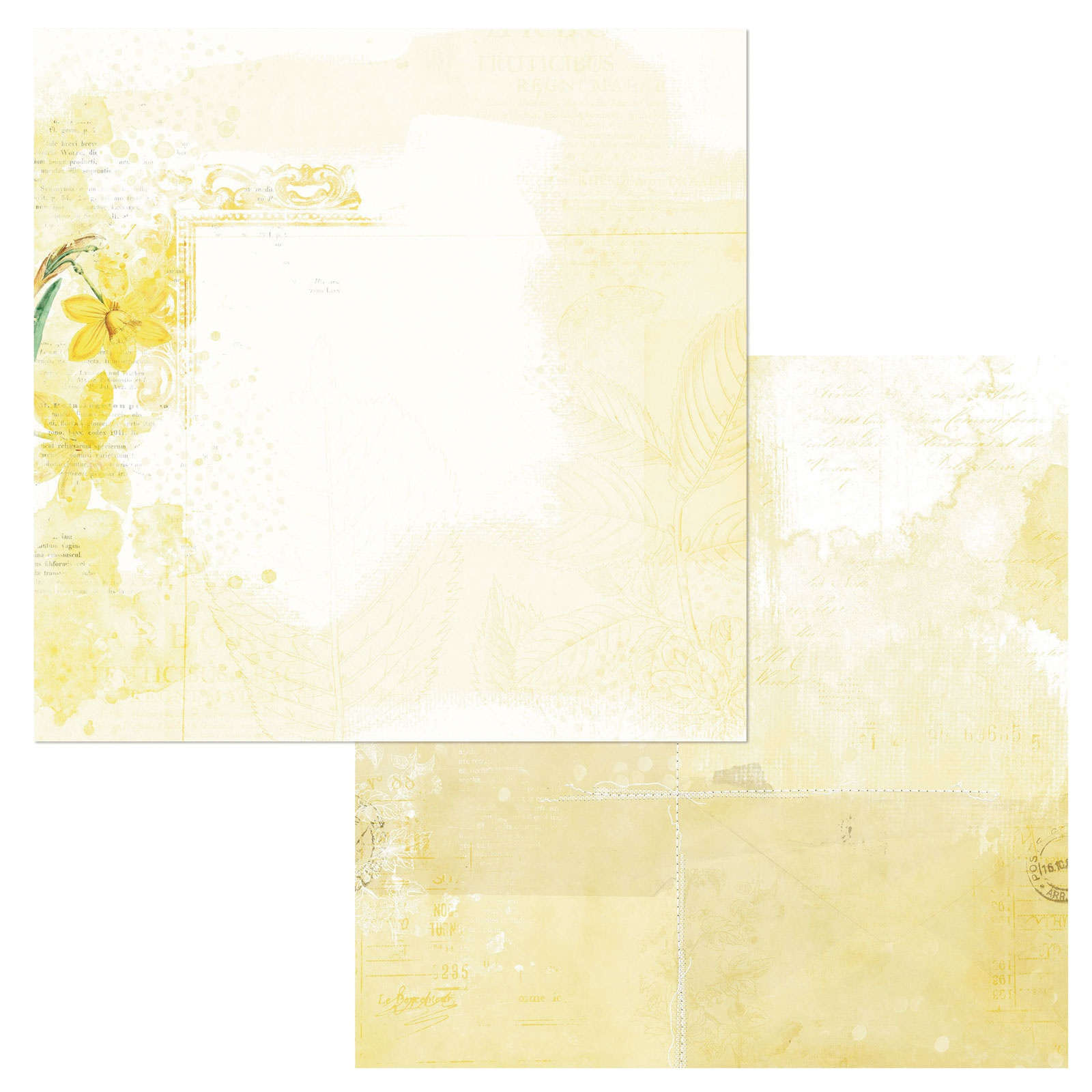 49 And Market - Vintage Artistry Butter - MELLOW - 12x12 Double-Sided Paper