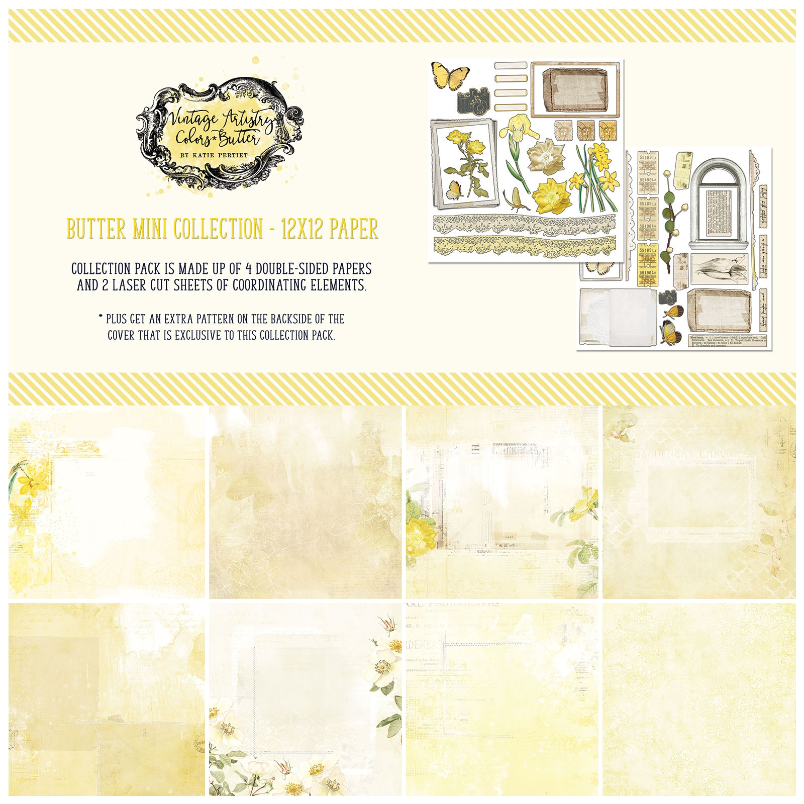 49 And Market Collection Pack 12X12-Vintage Artistry Butter